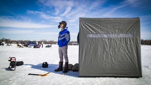 Image for On a frozen Minnesota lake, political antagonisms melt away