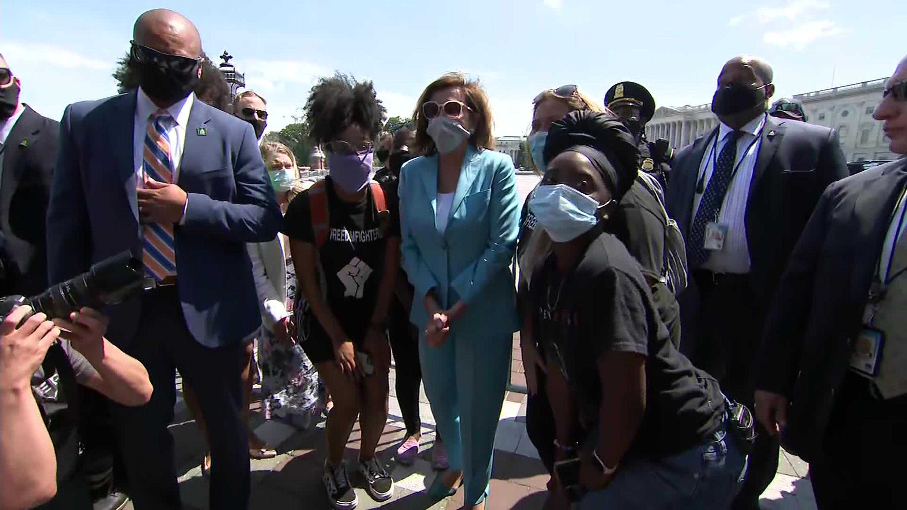 Nancy Pelosi becomes the latest Democratic lawmaker to visit DC protests