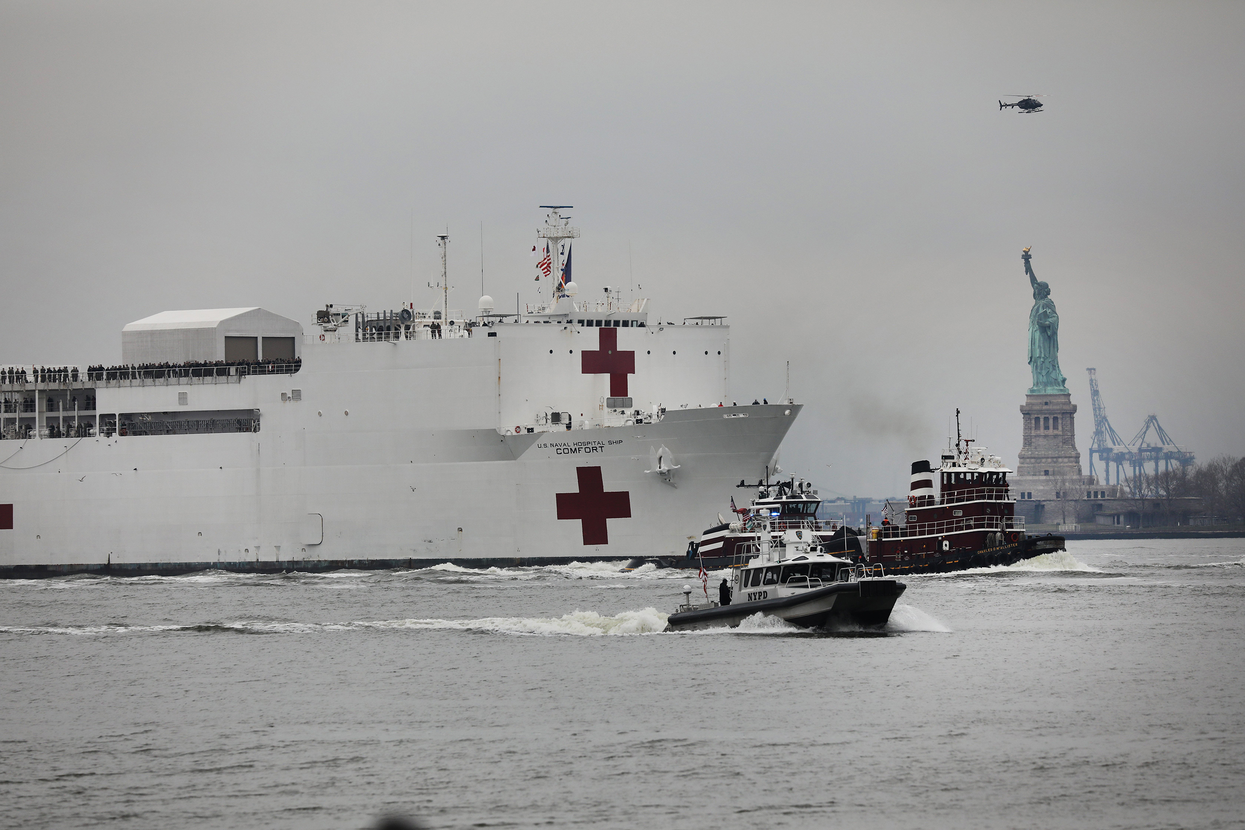 Trump approves New York request to treat coronavirus patients on Navy hospital ship
