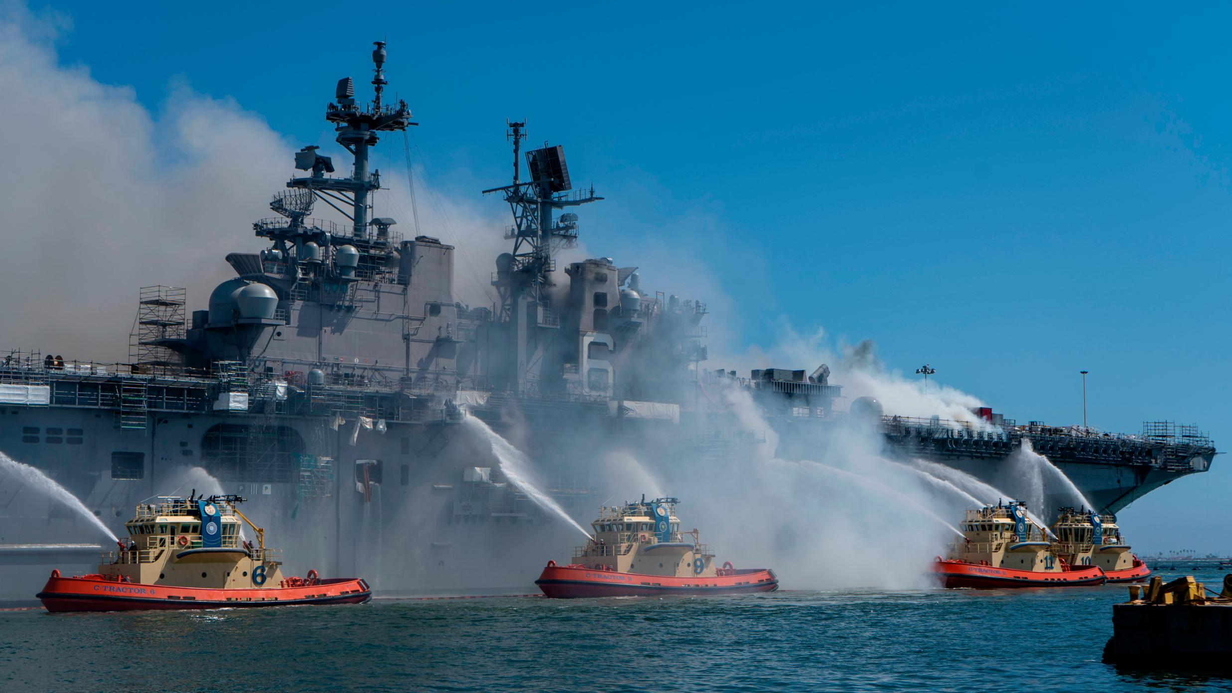 Navy to de-commission and scrap warship USS Bonhomme Richard after major fire
