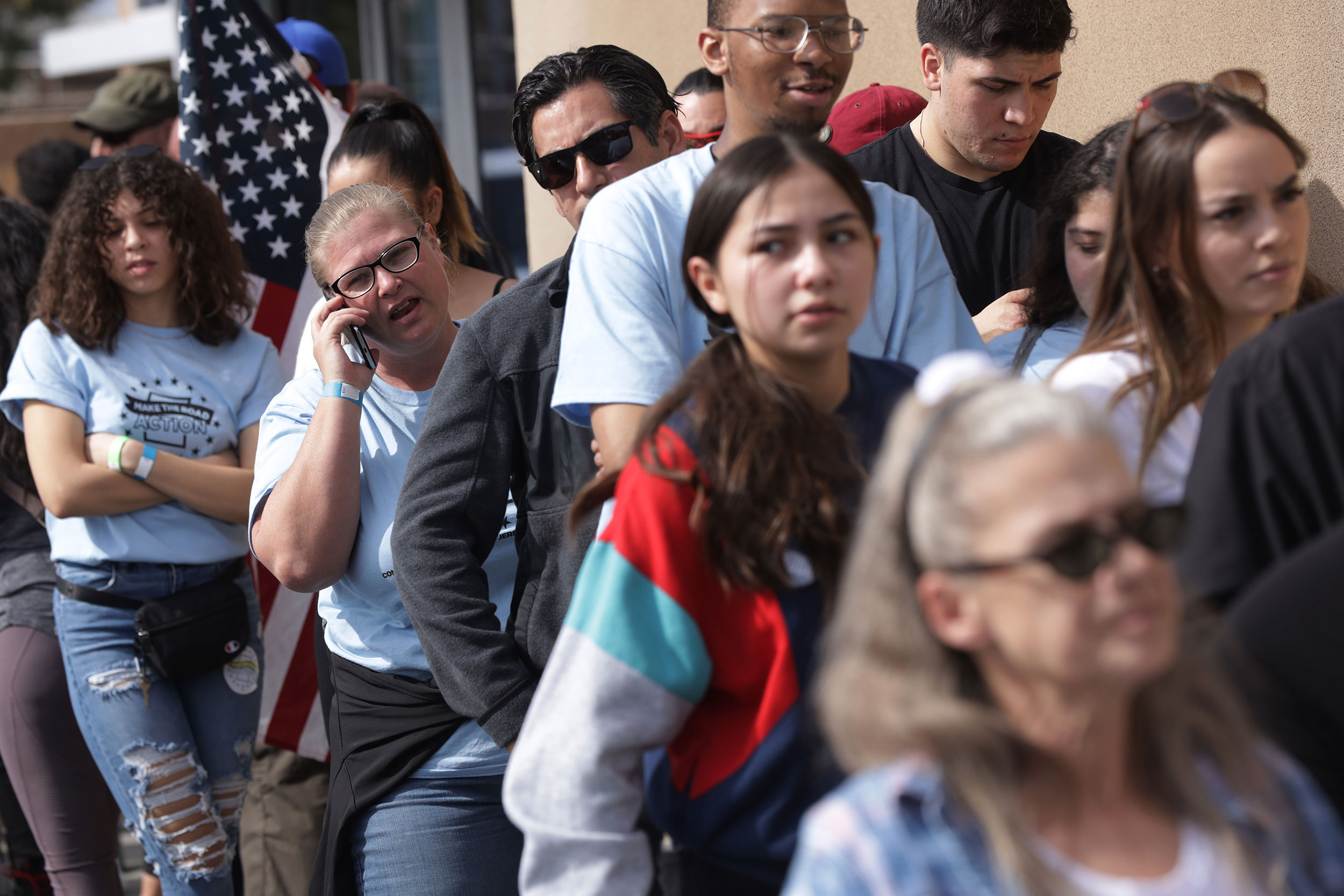 Nearly 12,000 Democrats turn out for first day of early voting in Nevada