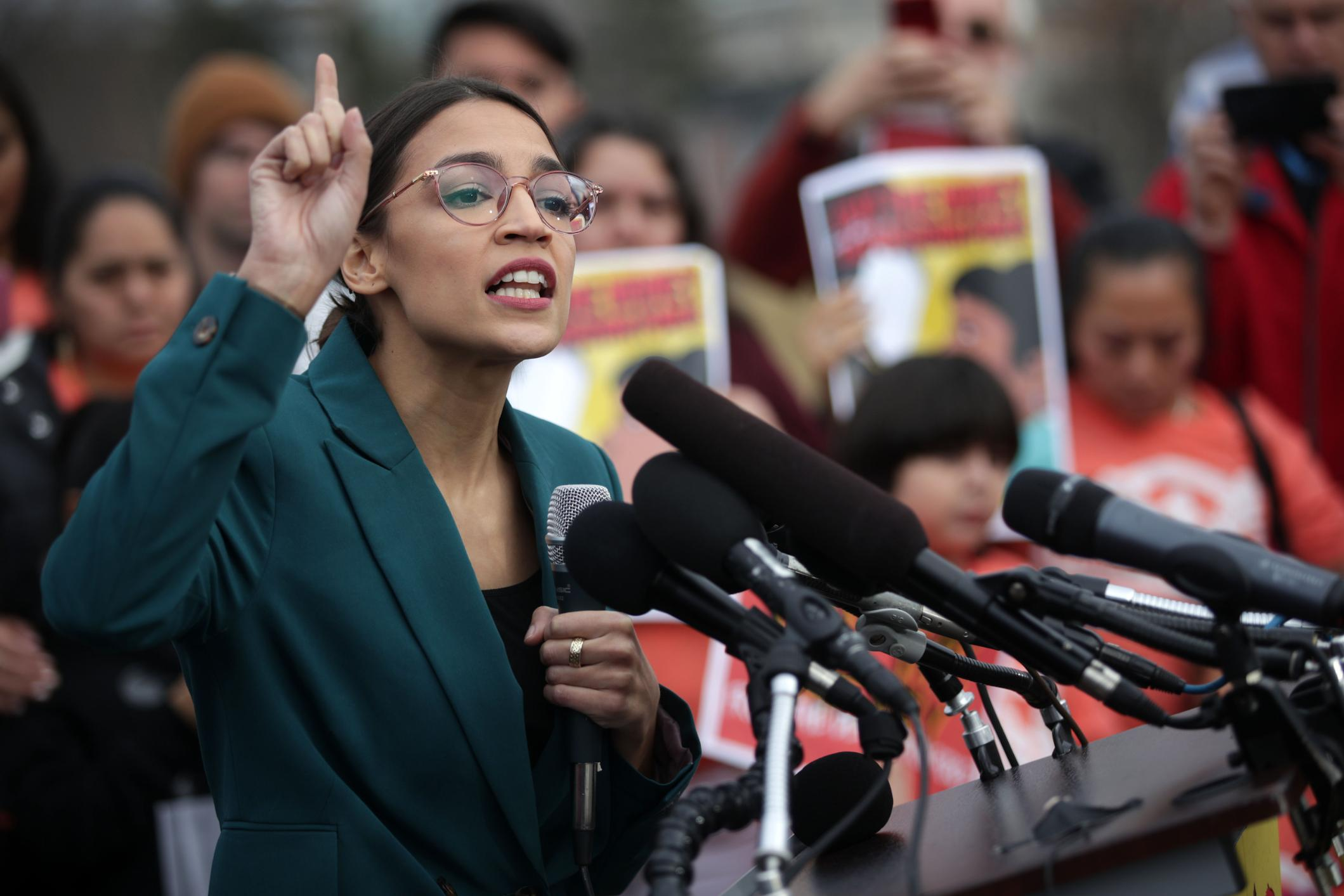 Alexandria Ocasio-Cortez looks to the future after a year of making waves
