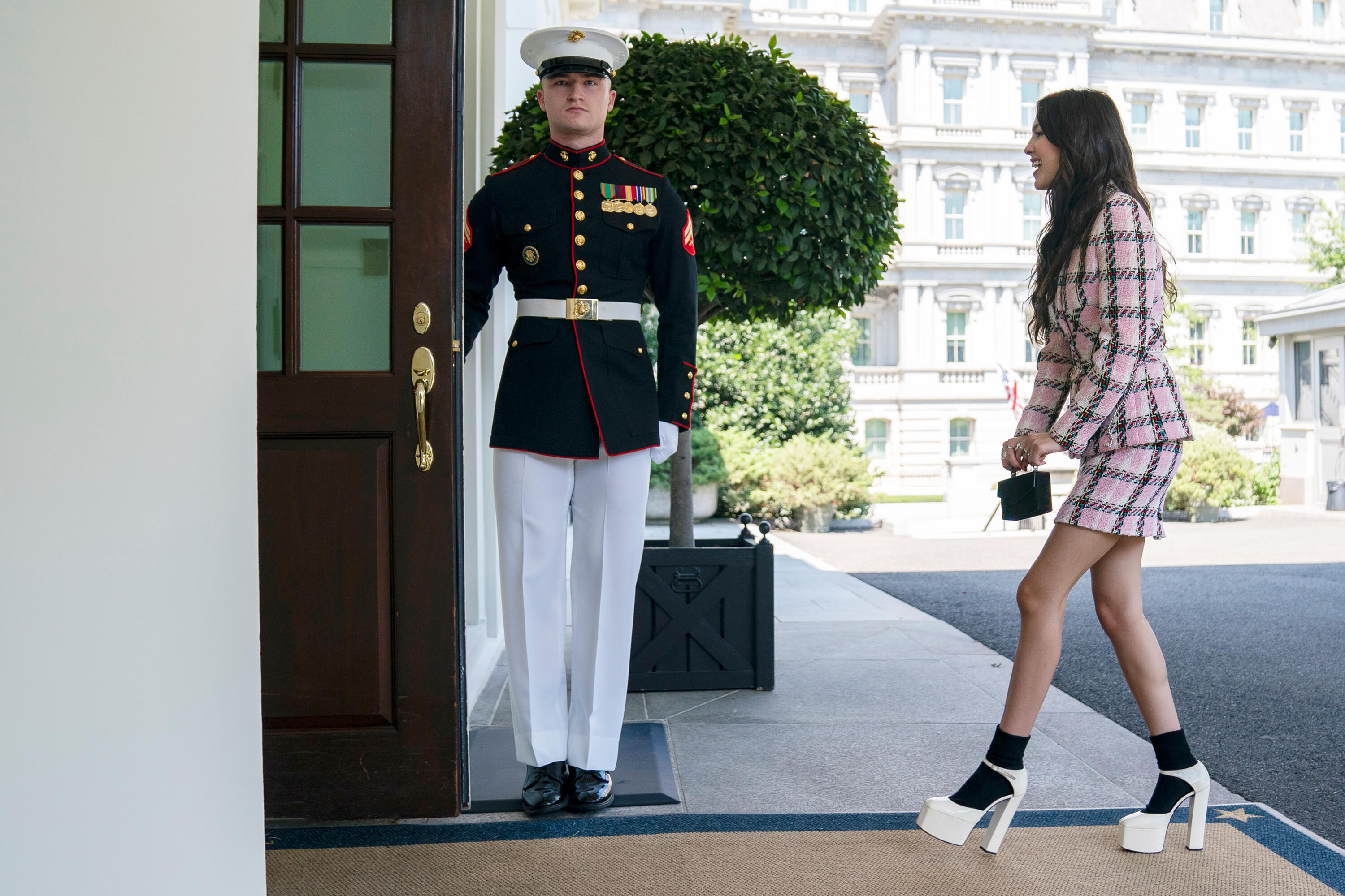 Pop star Olivia Rodrigo visits White House to urge young people to get vaccinated against Covid-19