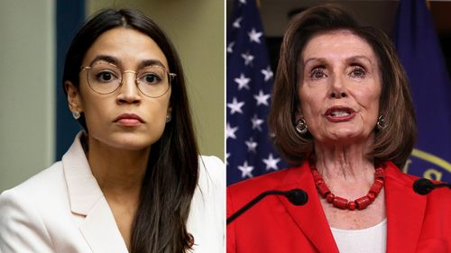 Image for New book on Pelosi details fraught relationship with AOC and the Squad
