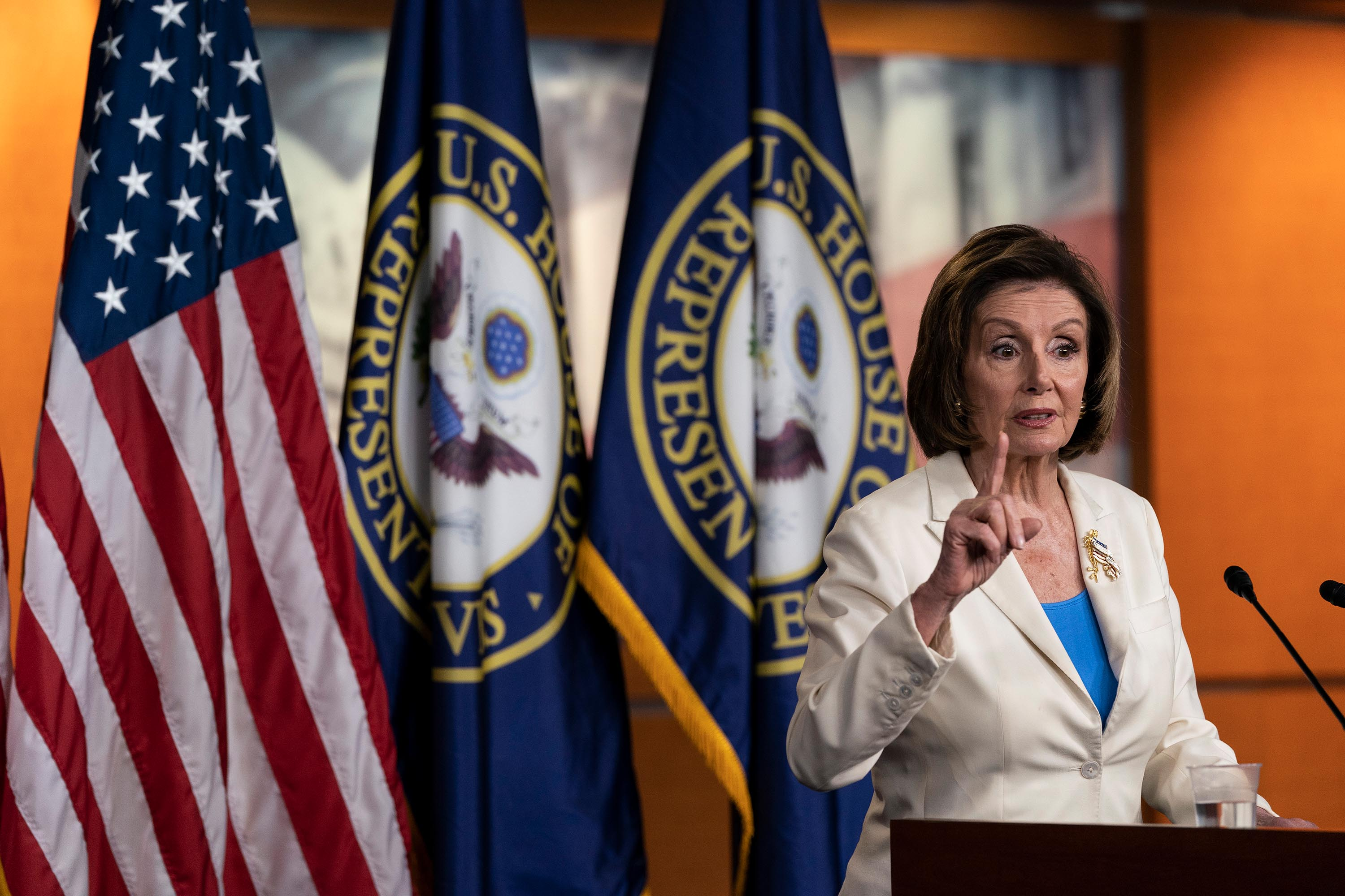 Pelosi stands by infrastructure strategy despite pushback