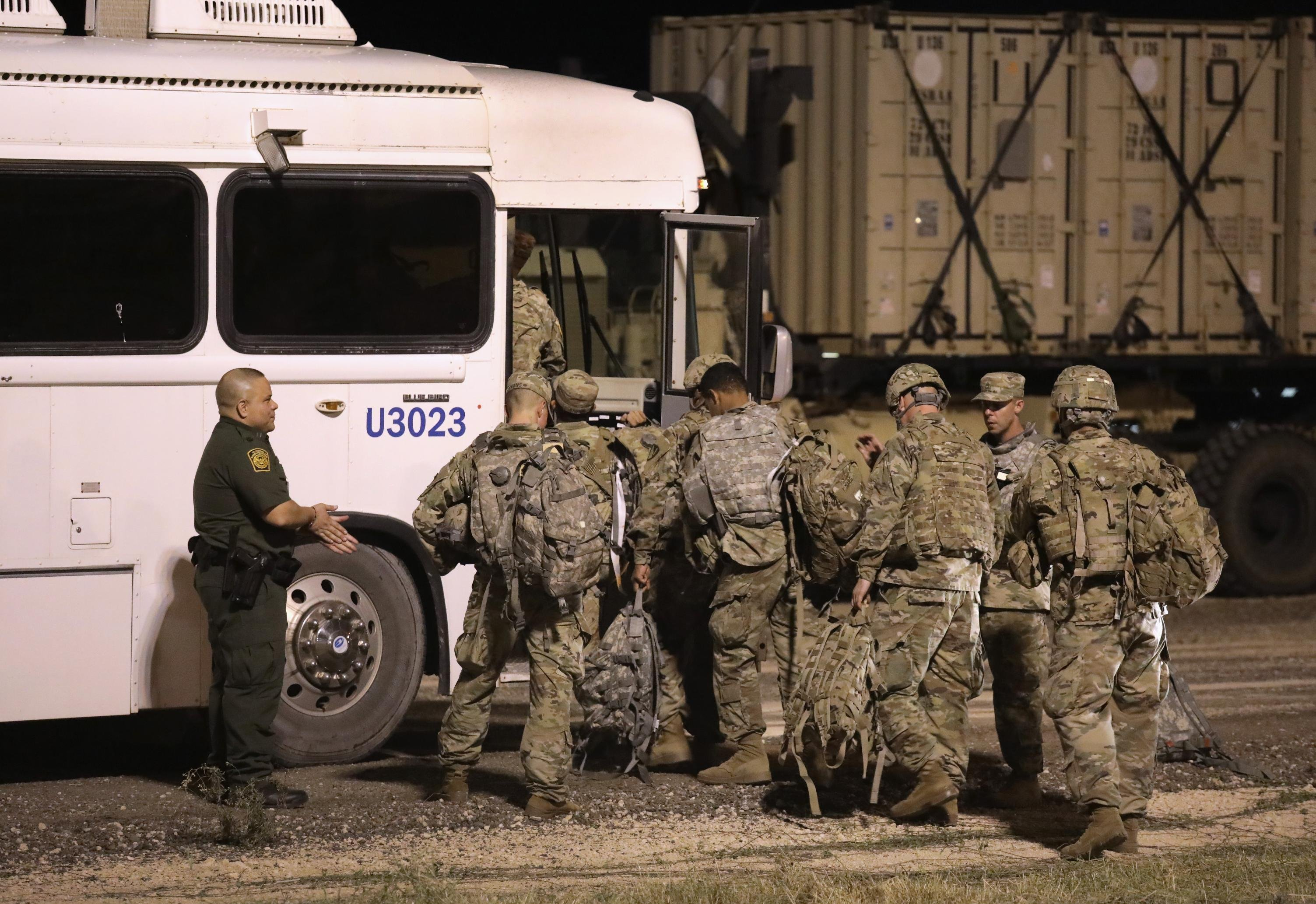 Troops on the southern border carrying out 'welfare checks' to help overwhelmed border agents