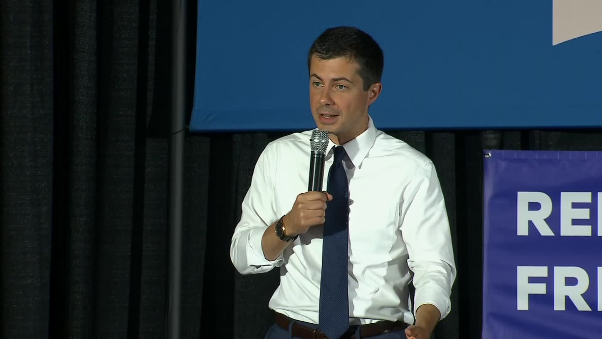 "Buttigieg knocks Trump on background checks: The NRA, ""they have him by the … base"""