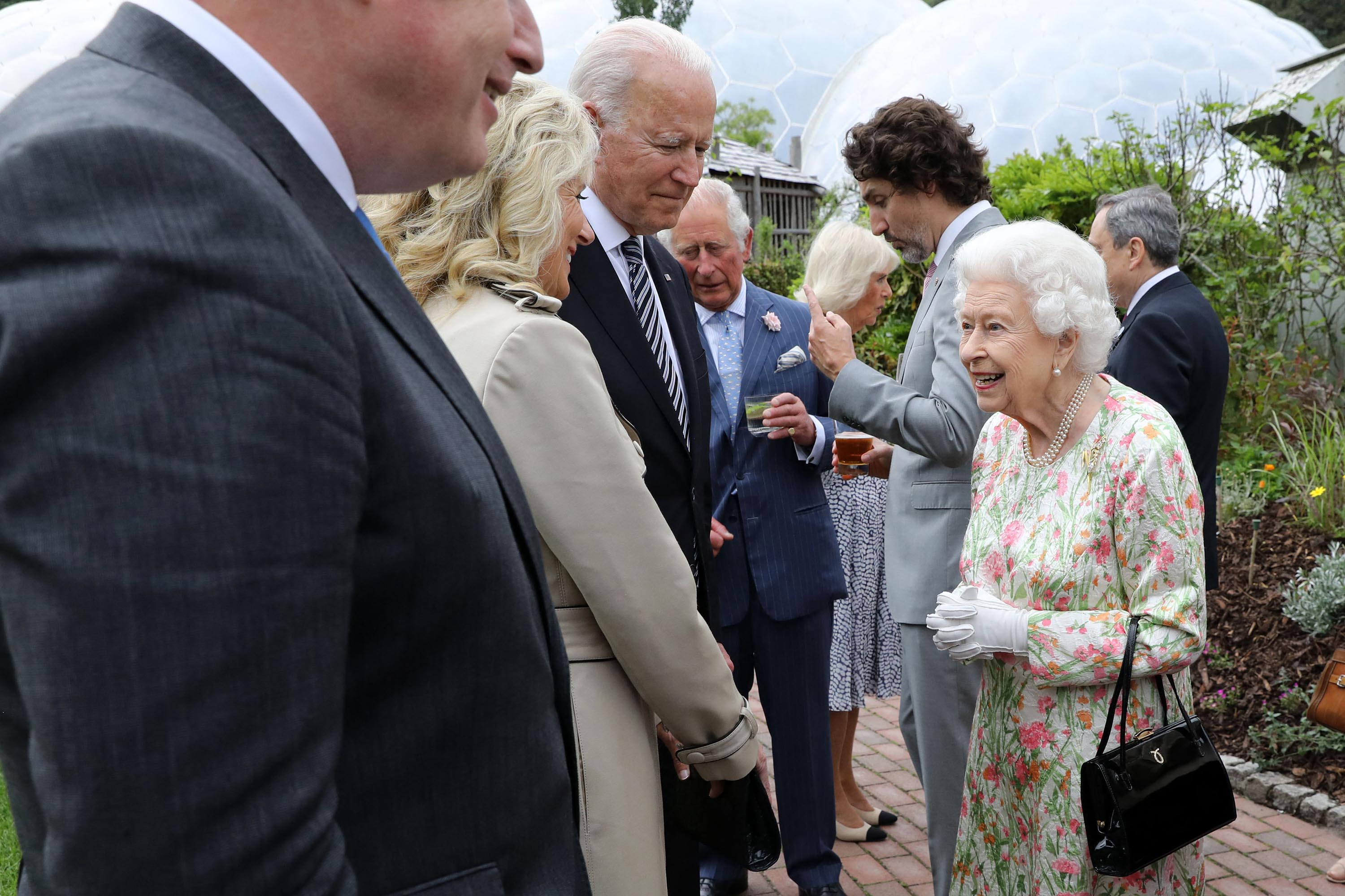 President Biden and the first lady meet Queen Elizabeth II after his first G7 summit