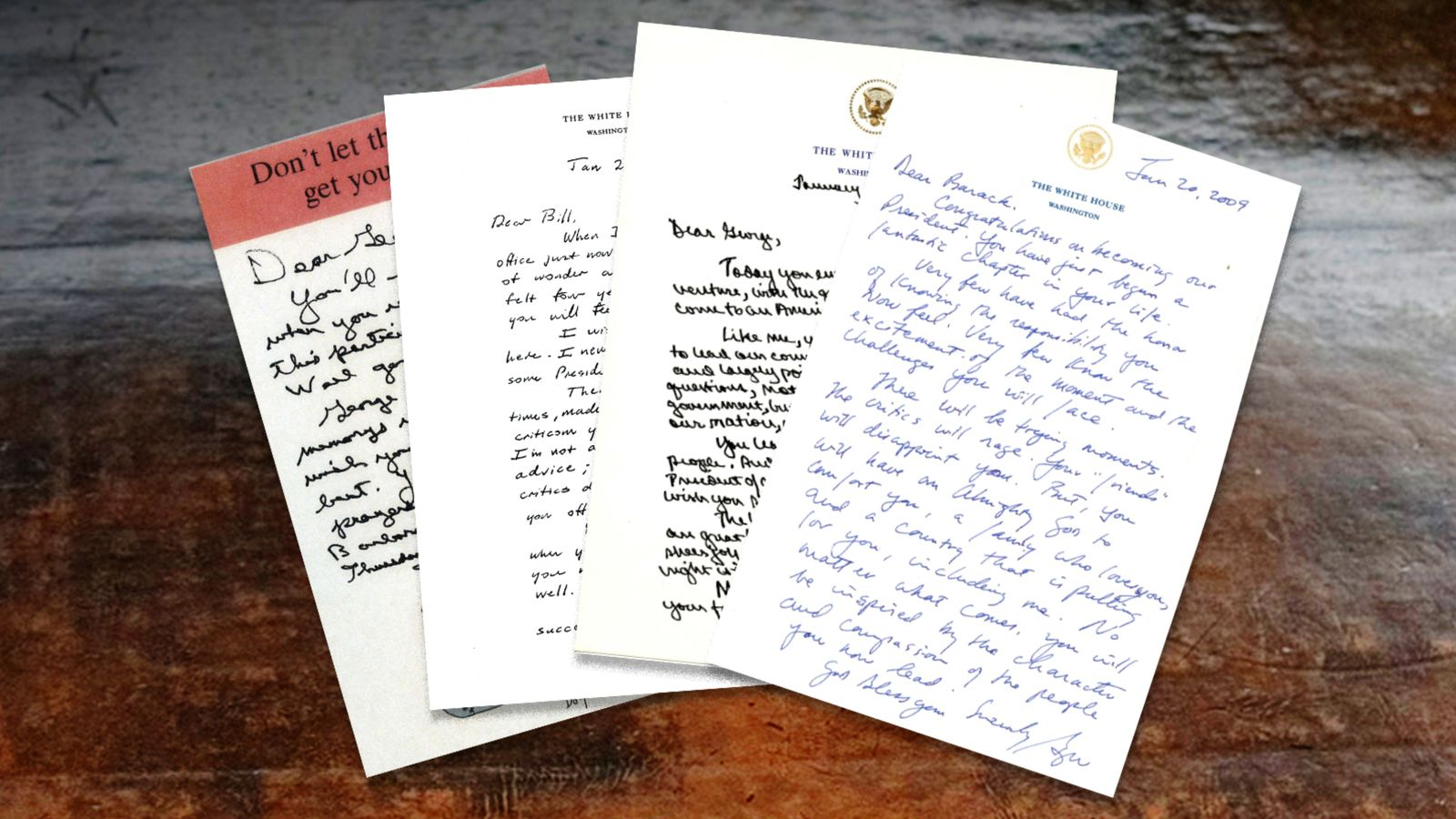 Read the letters outgoing Presidents left for their successors in the Oval Office