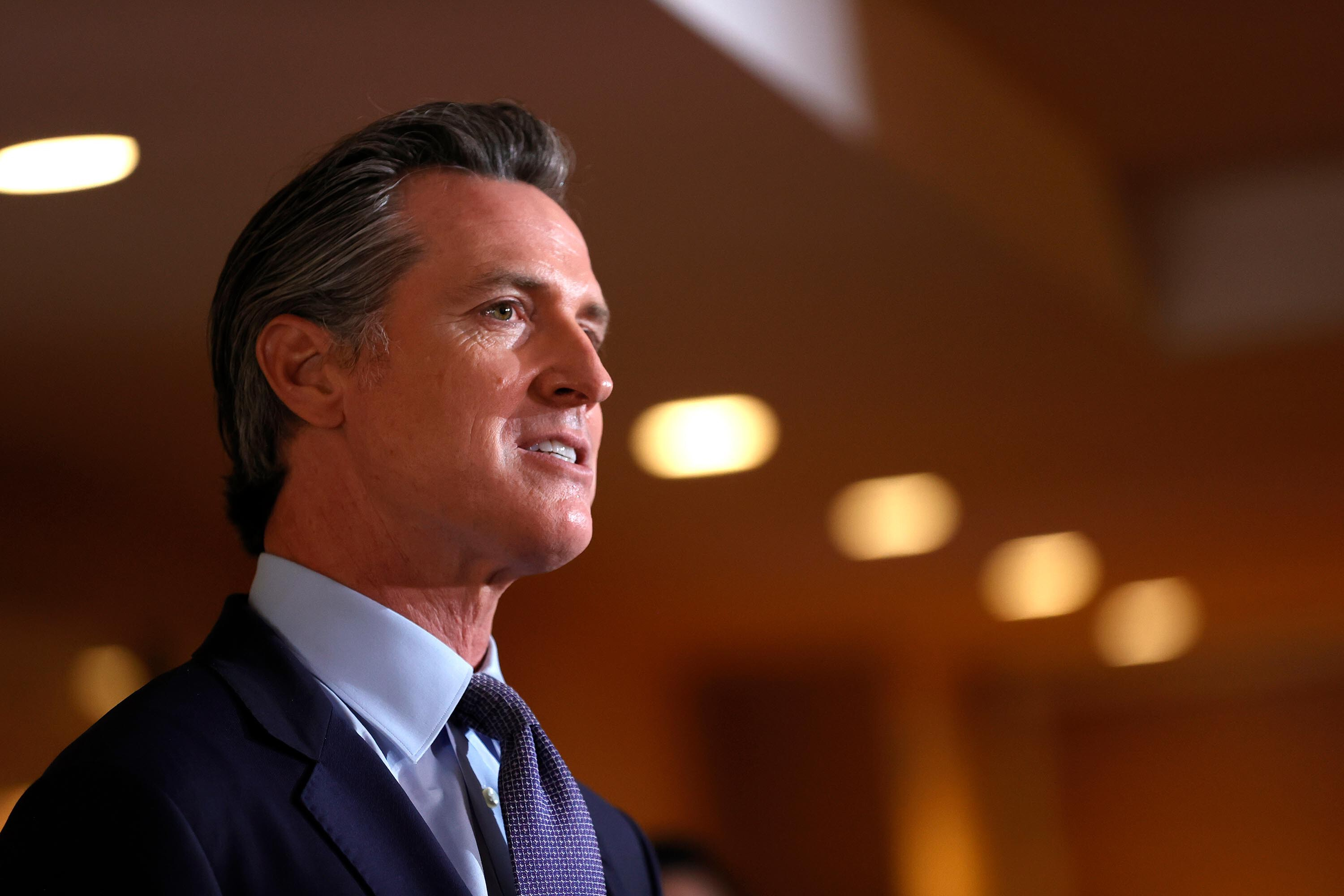 Newsom stands behind Biden's new Covid vaccine requirements as he fights California recall