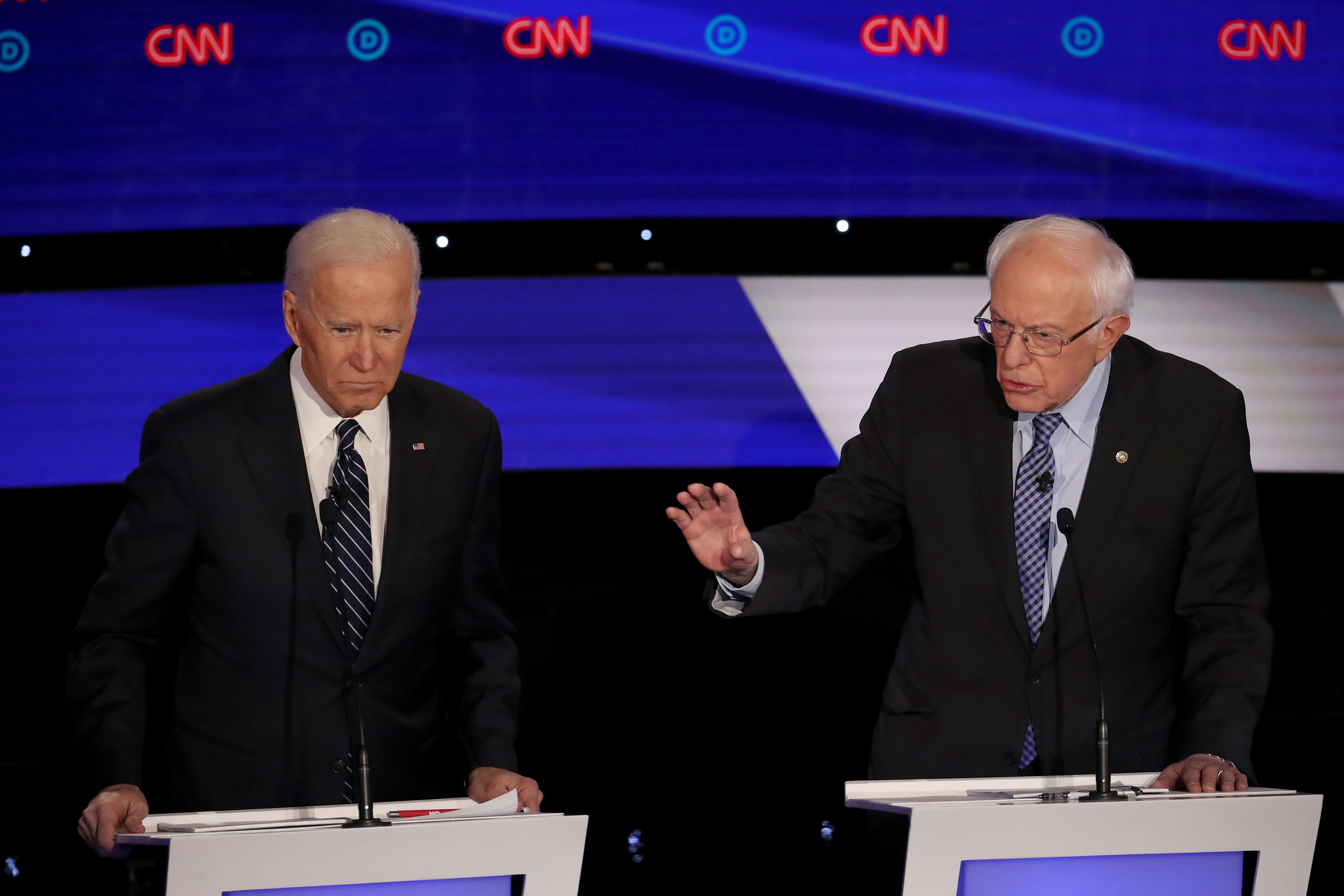 Sanders attacks Biden's record on social security as primary race heats up ahead of Iowa