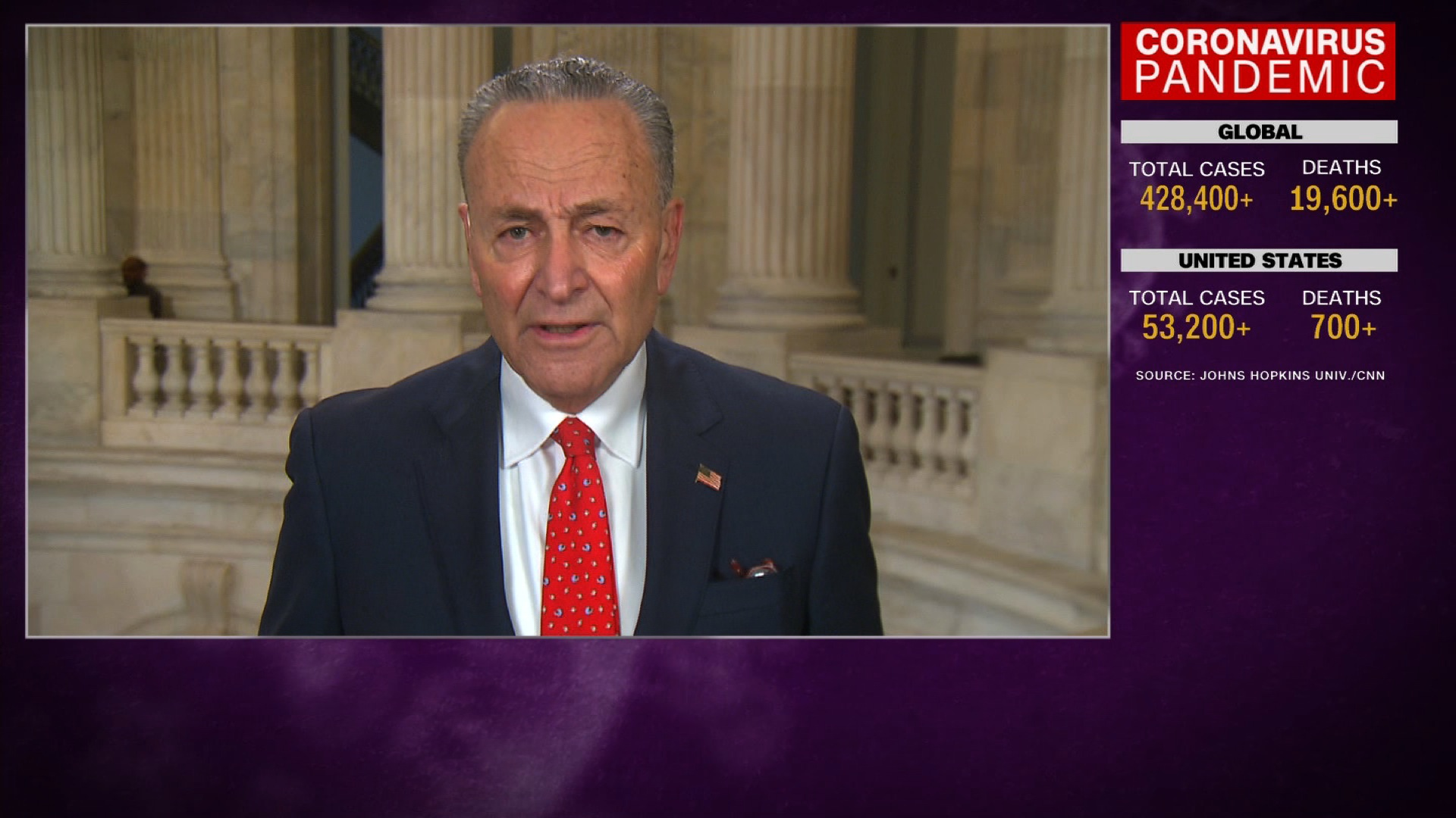 Trump letter attacking Schumer is sent as President says 'this is not the time for politics'