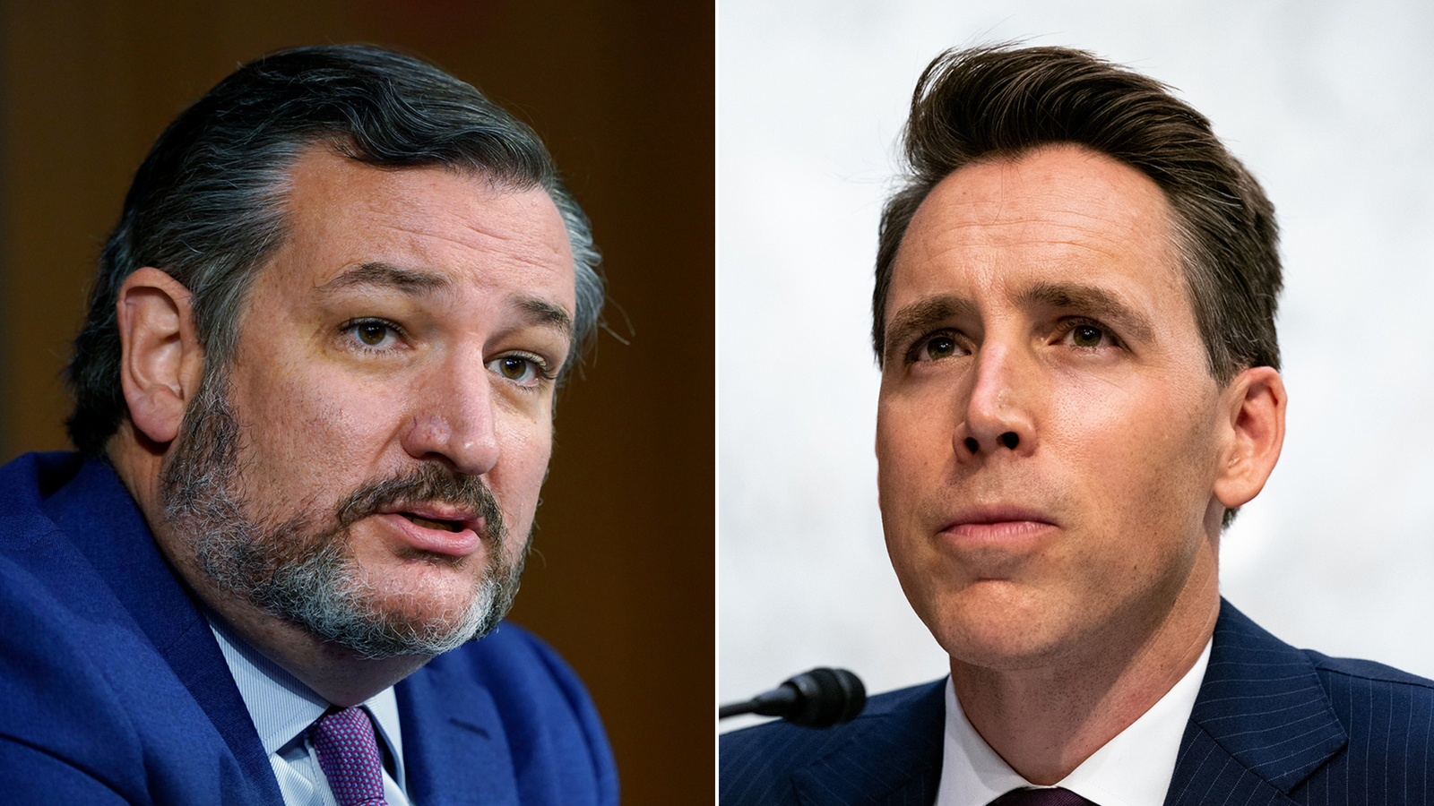 Seven Senate Democrats request ethics probe into Cruz and Hawley over Capitol riot