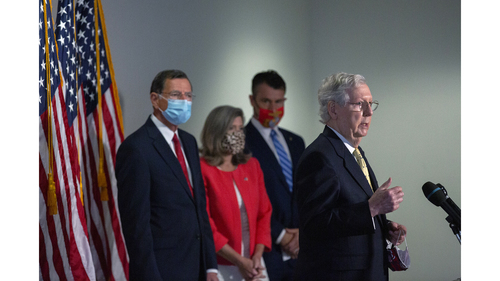 Image for Timeline for release of GOP stimulus plan delayed as negotiators race for deal amid holdups