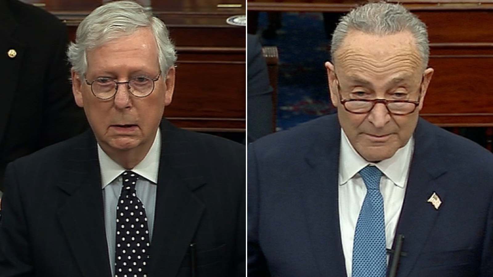 The Senate is stalled as Schumer and McConnell work out power sharing