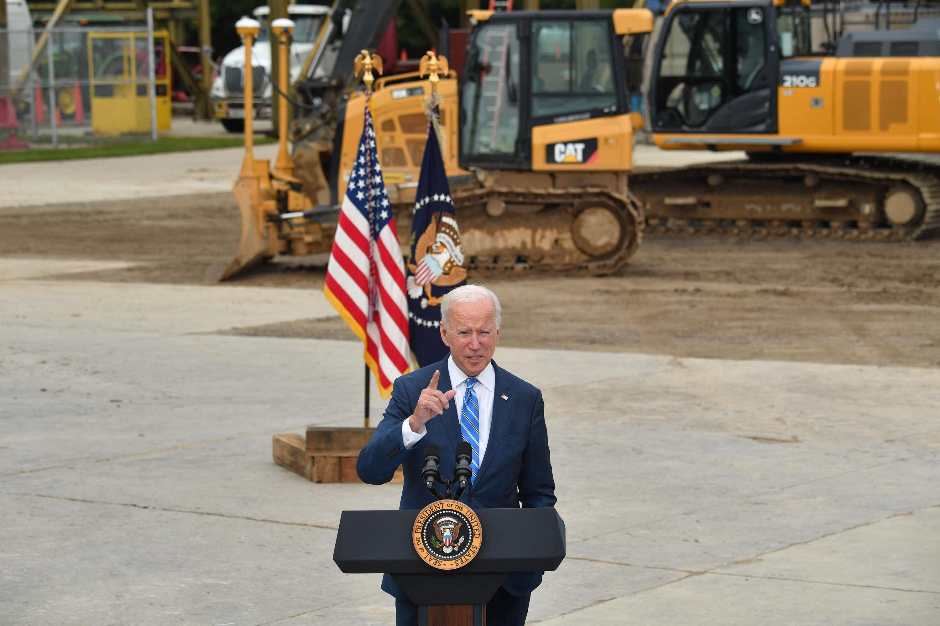 Biden points to Covid as a reason for disappointing jobs report, but argues progress is being made