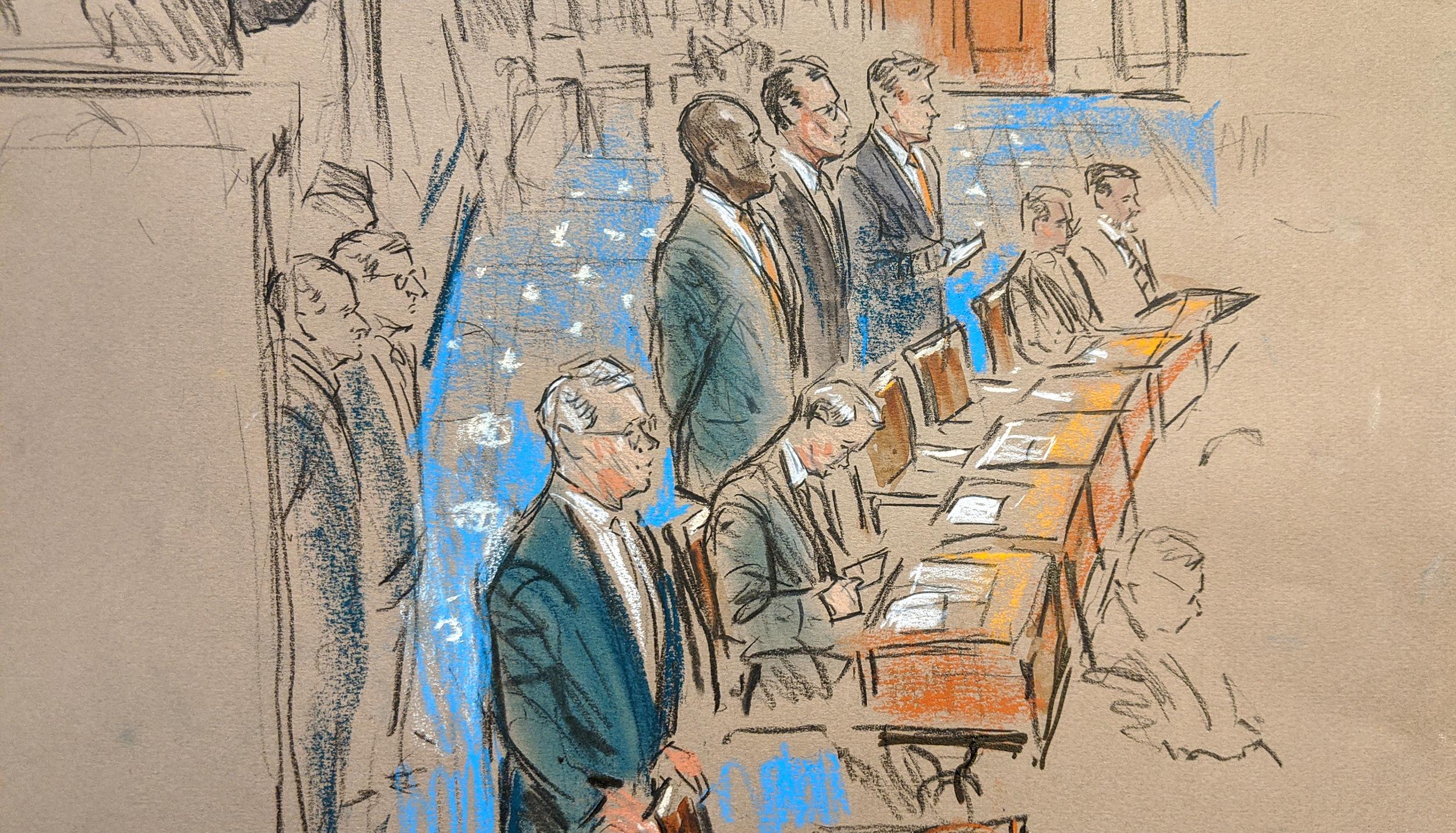 More impeachment trial scenes the Senate TV cameras won't show
