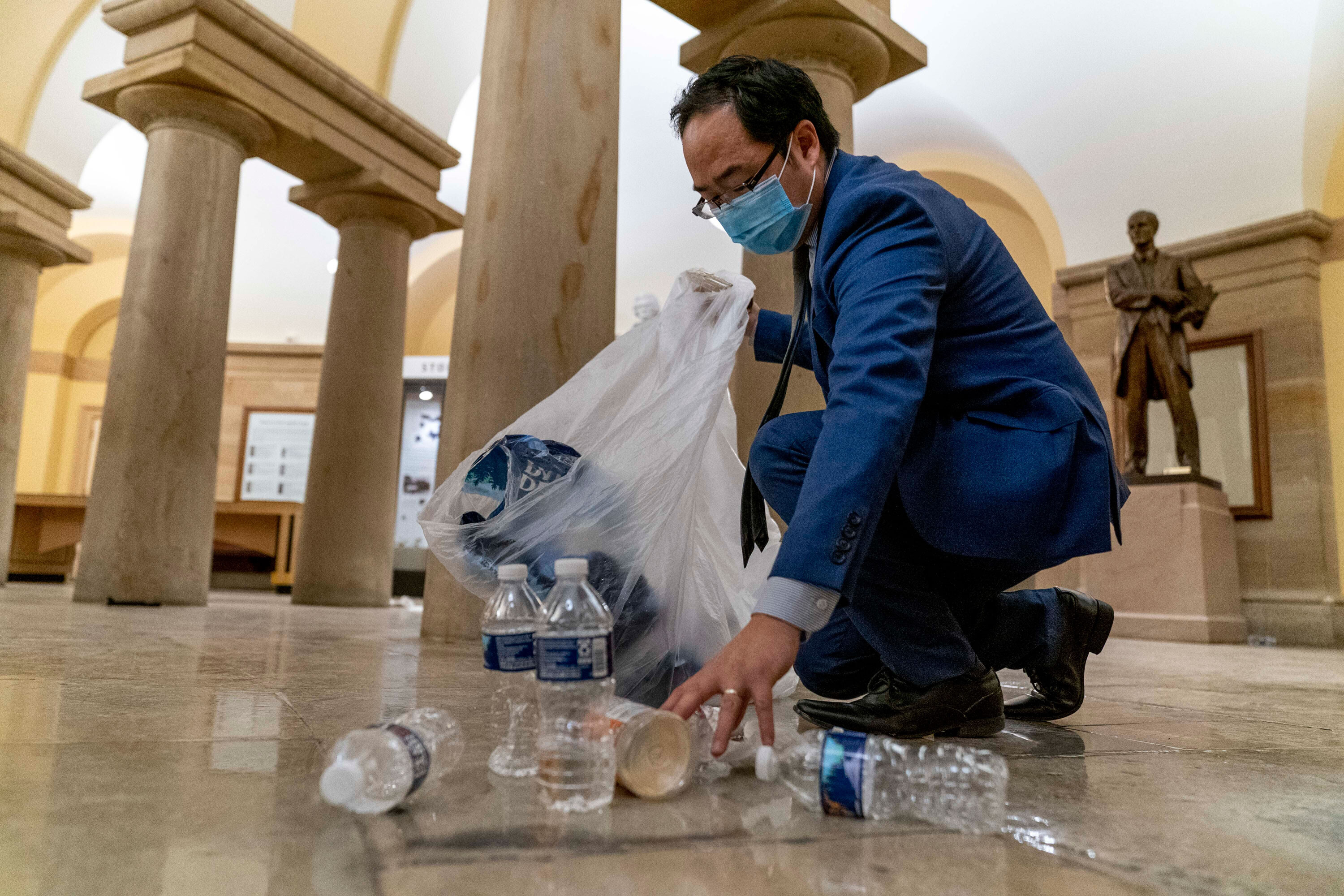 Lawmaker donates suit he wore to clean up Capitol riot to Smithsonian, 6 months after deadly insurrection