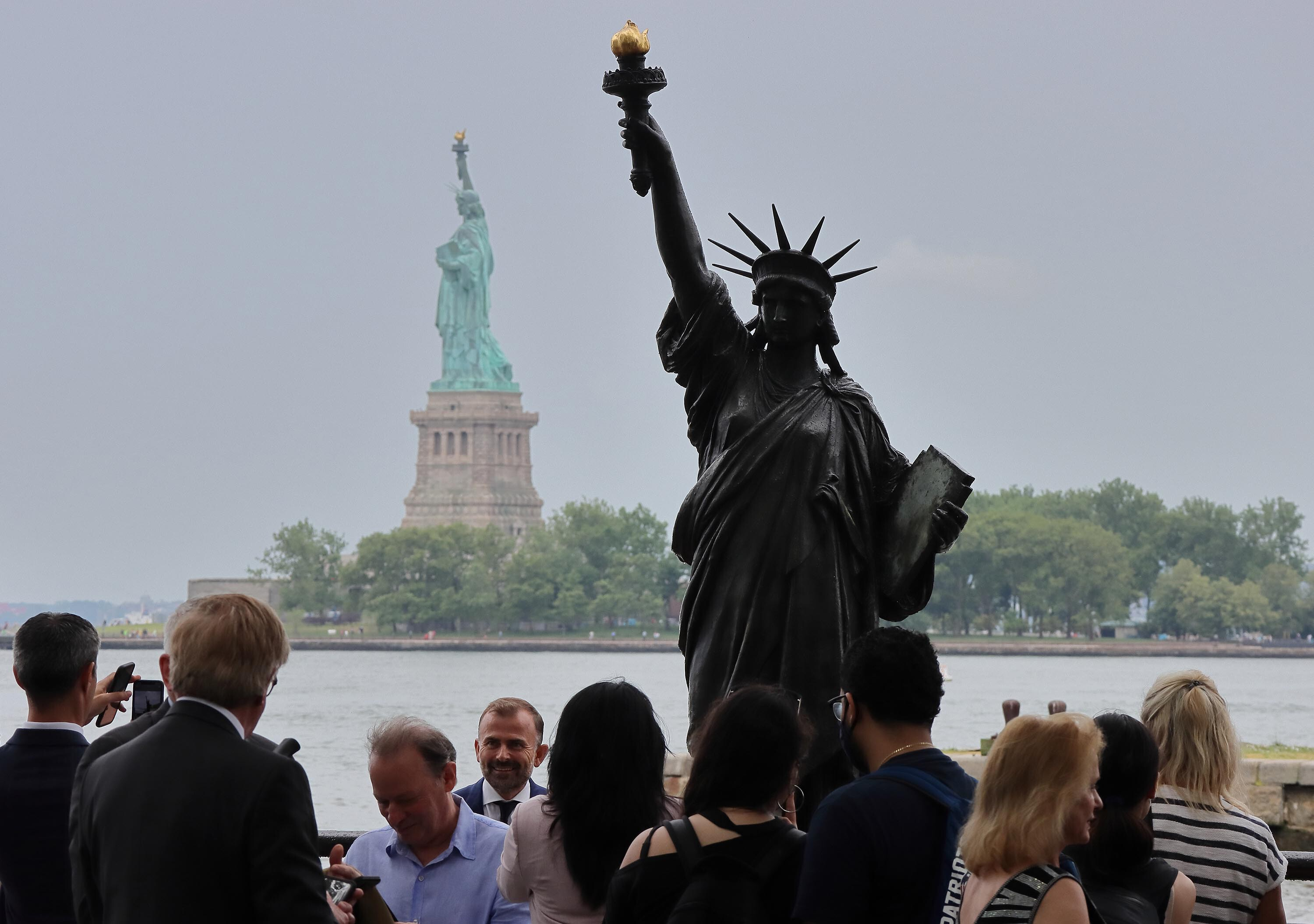 Statue of Liberty's 'little sister' takes up residence in Washington, DC
