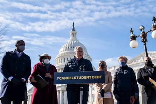 Image for Biden and top Democrats split on how to cancel student debt