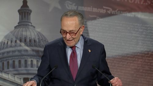 Image for Schumer keeps pressure on Biden to cancel $50,000 in student loan debt