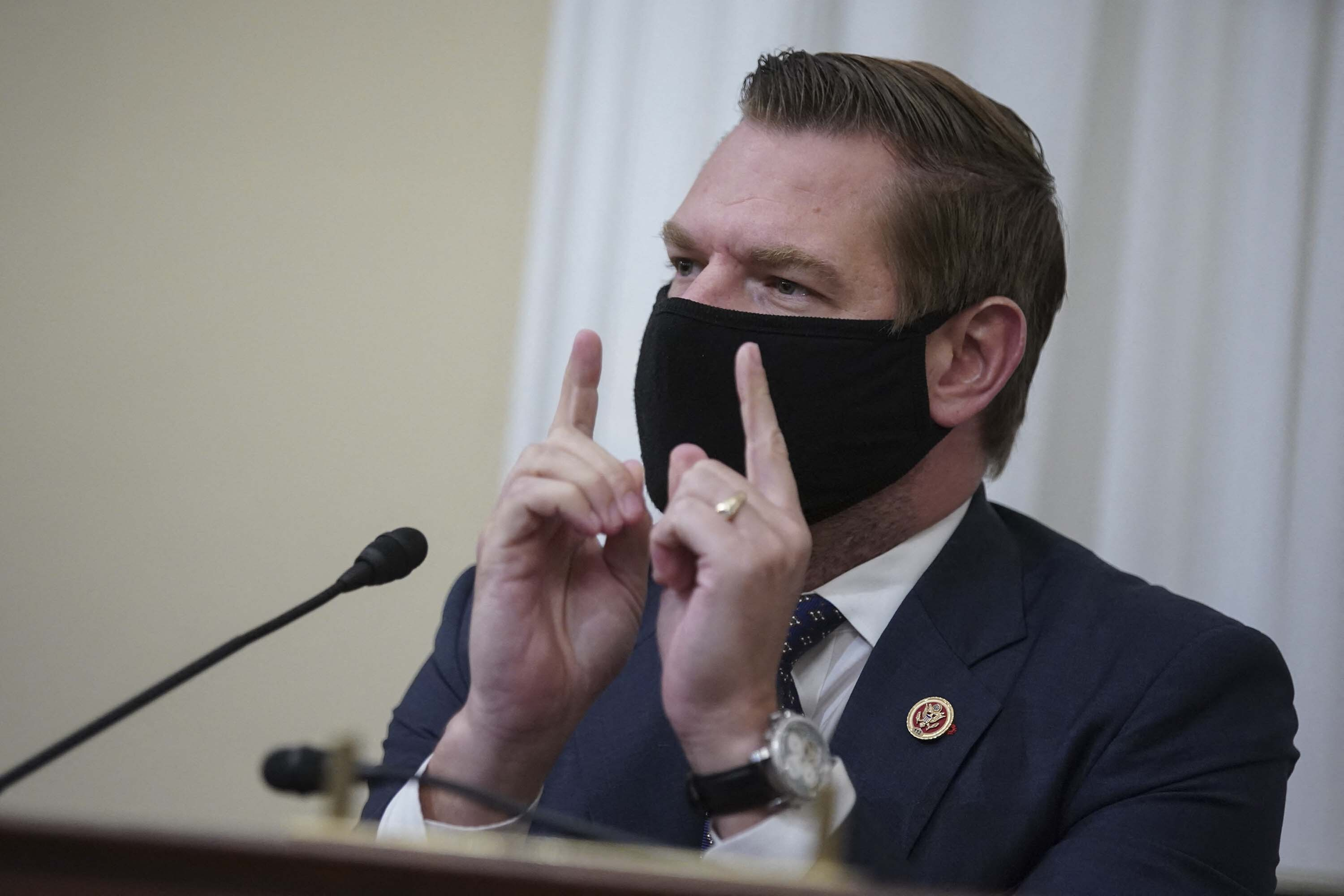 Fact check: Rep. Eric Swalwell falsely says Mitch McConnell only got 'serious' about Covid-19 vaccines after Monday stock market dip