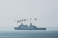 US warship sails through Taiwan Strait after Chinese officials canceled its Hong Kong port visit