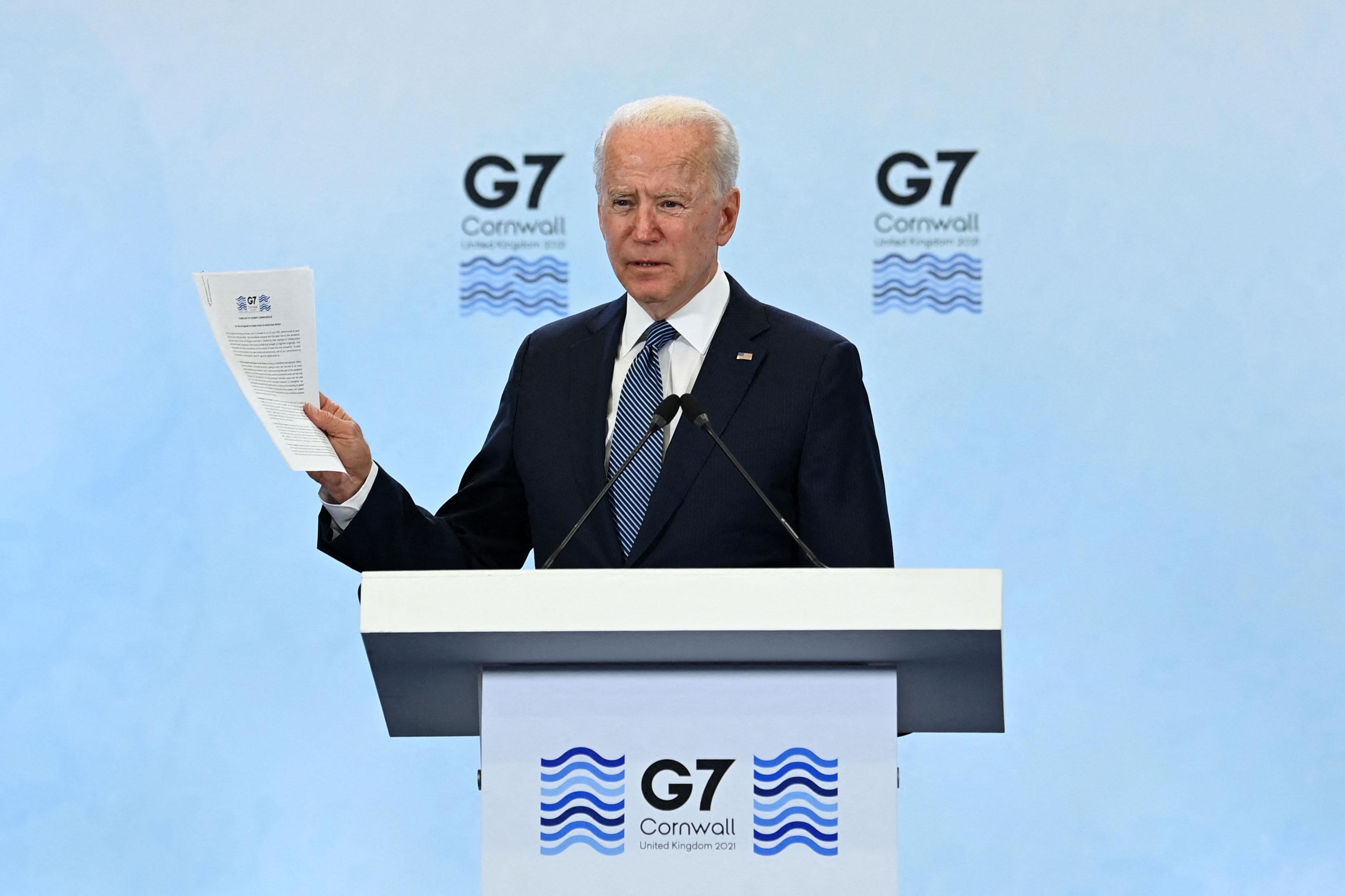 3 takeaways from President Joe Biden's first G7 summit