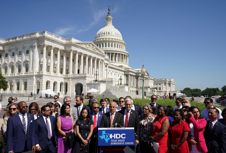 Texas Democrats meet with key Democratic senators in push for federal voting rights legislation