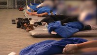 Inside the new Border Patrol tent facility for migrants in Tornillo, Texas