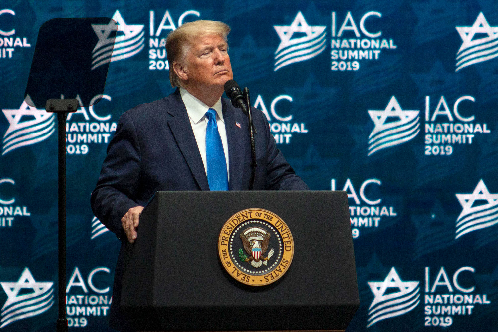 Jewish leaders criticized Trump for telling Jewish audience they have 'no choice' but to vote for him instead of Elizabeth Warren's wealth tax