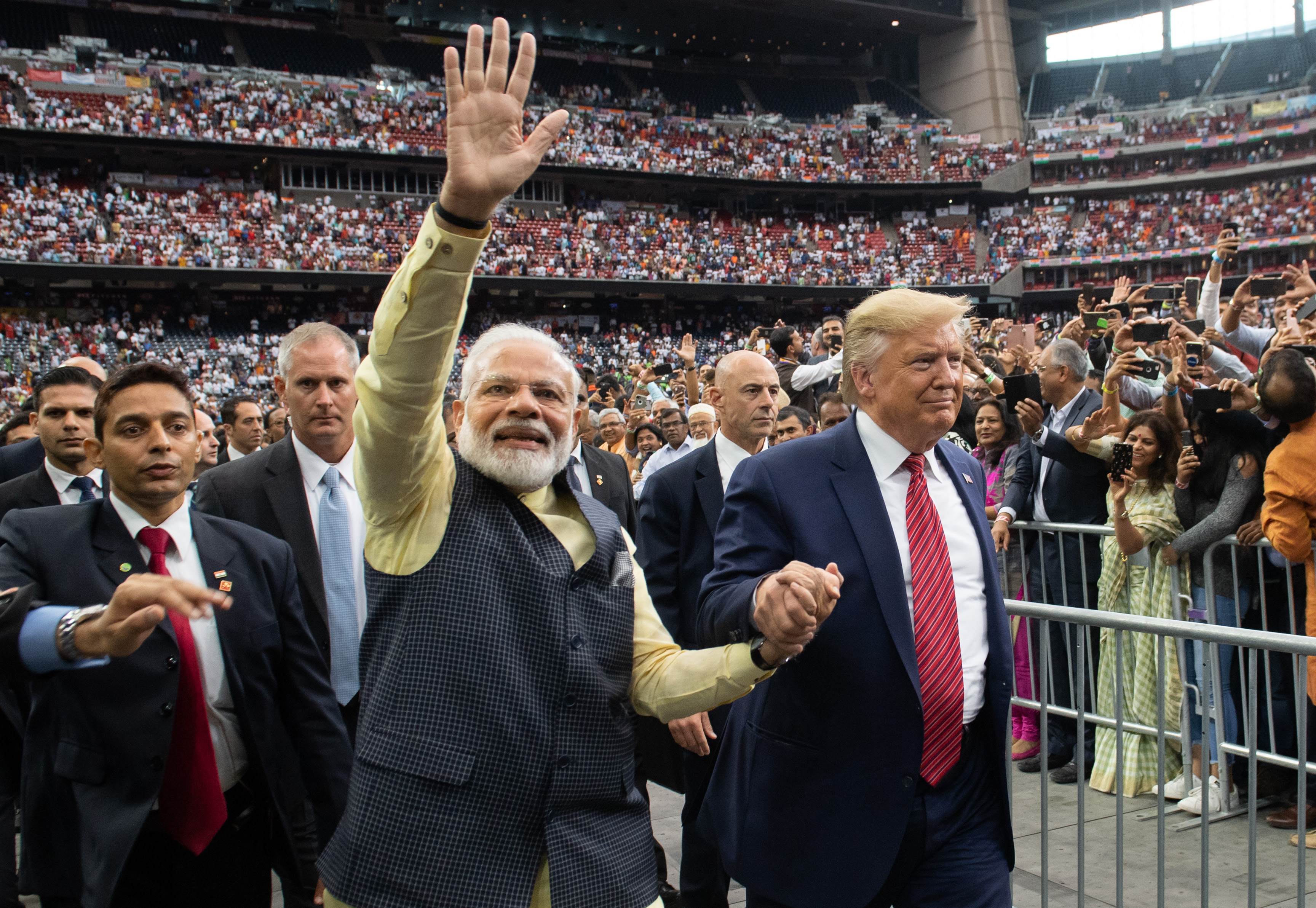 In India, Trump aims for crowds and strategic friendship