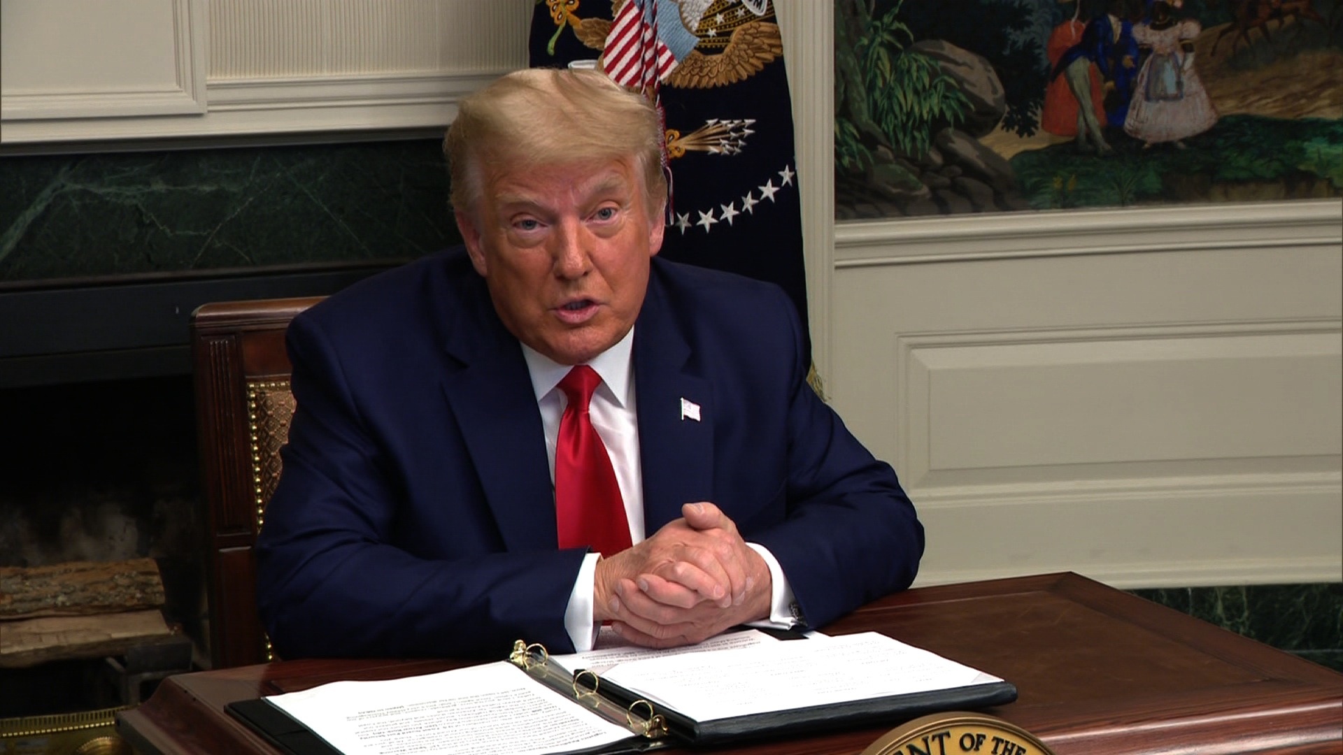Trump says for first time he'll leave office if Electoral College votes for Biden