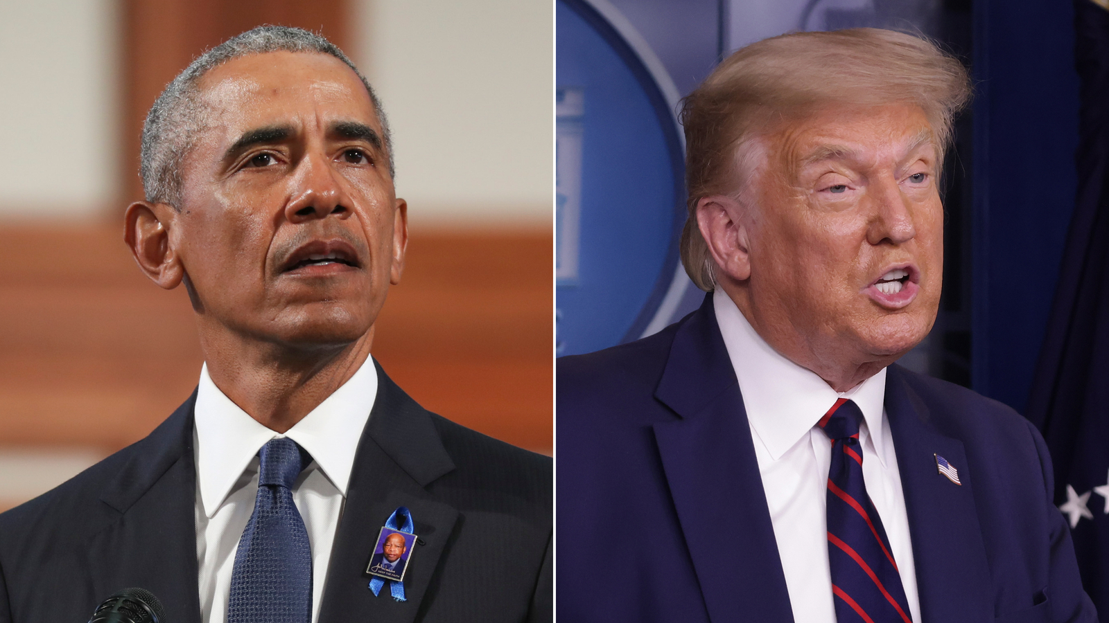 Trump trashes Obama's Lewis eulogy that pressed for voting rights