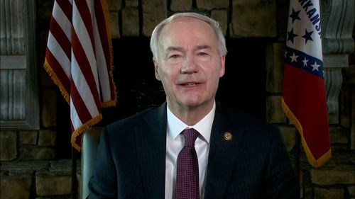 Image for Arkansas' GOP governor says Trump's attacks on party leaders are 'divisive' and 'not helpful'
