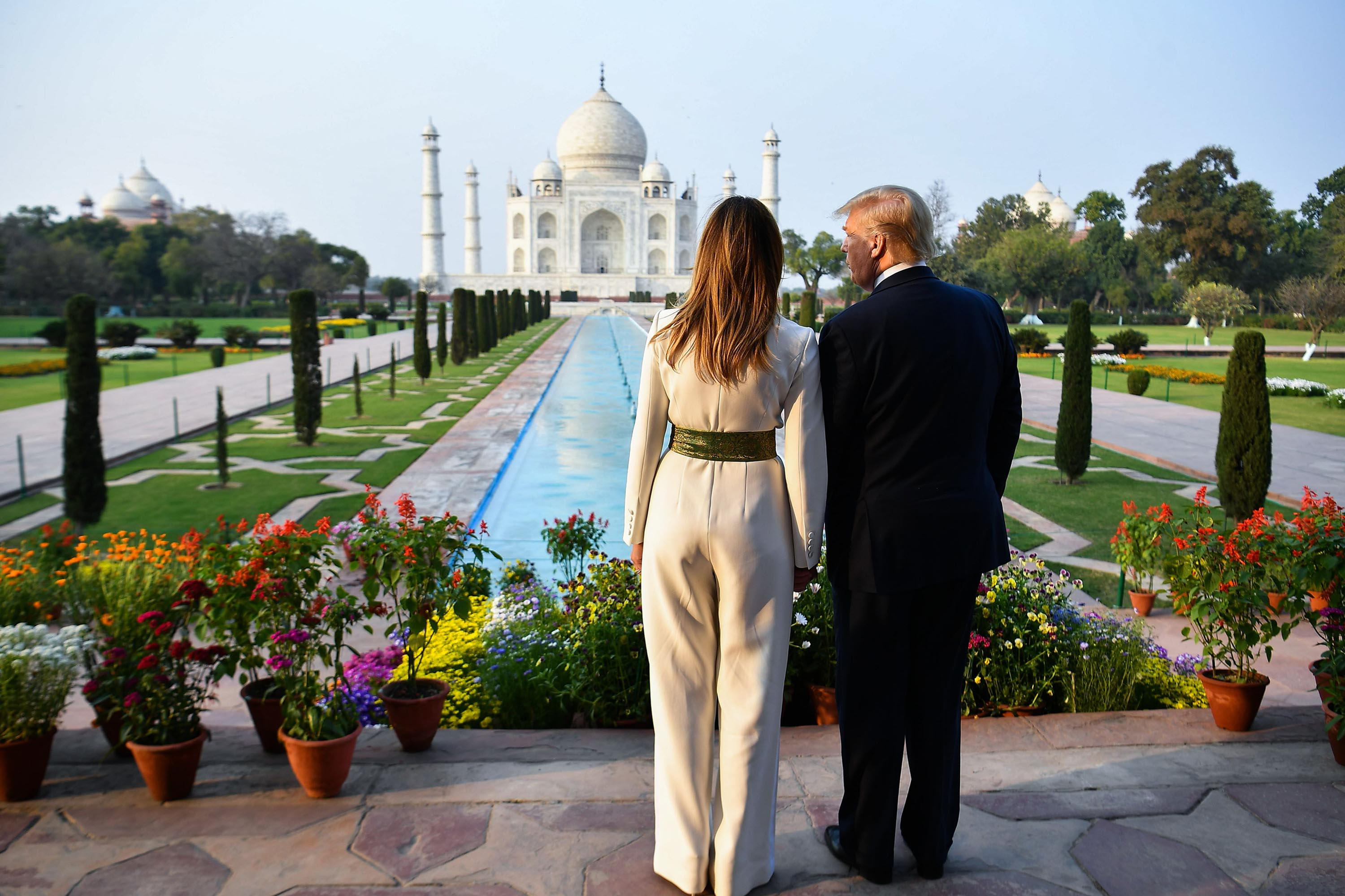 Trumps cherish an iconic moment — touring the Taj Mahal