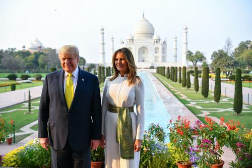 Image for Trumps cherish an iconic moment -- touring the Taj Mahal