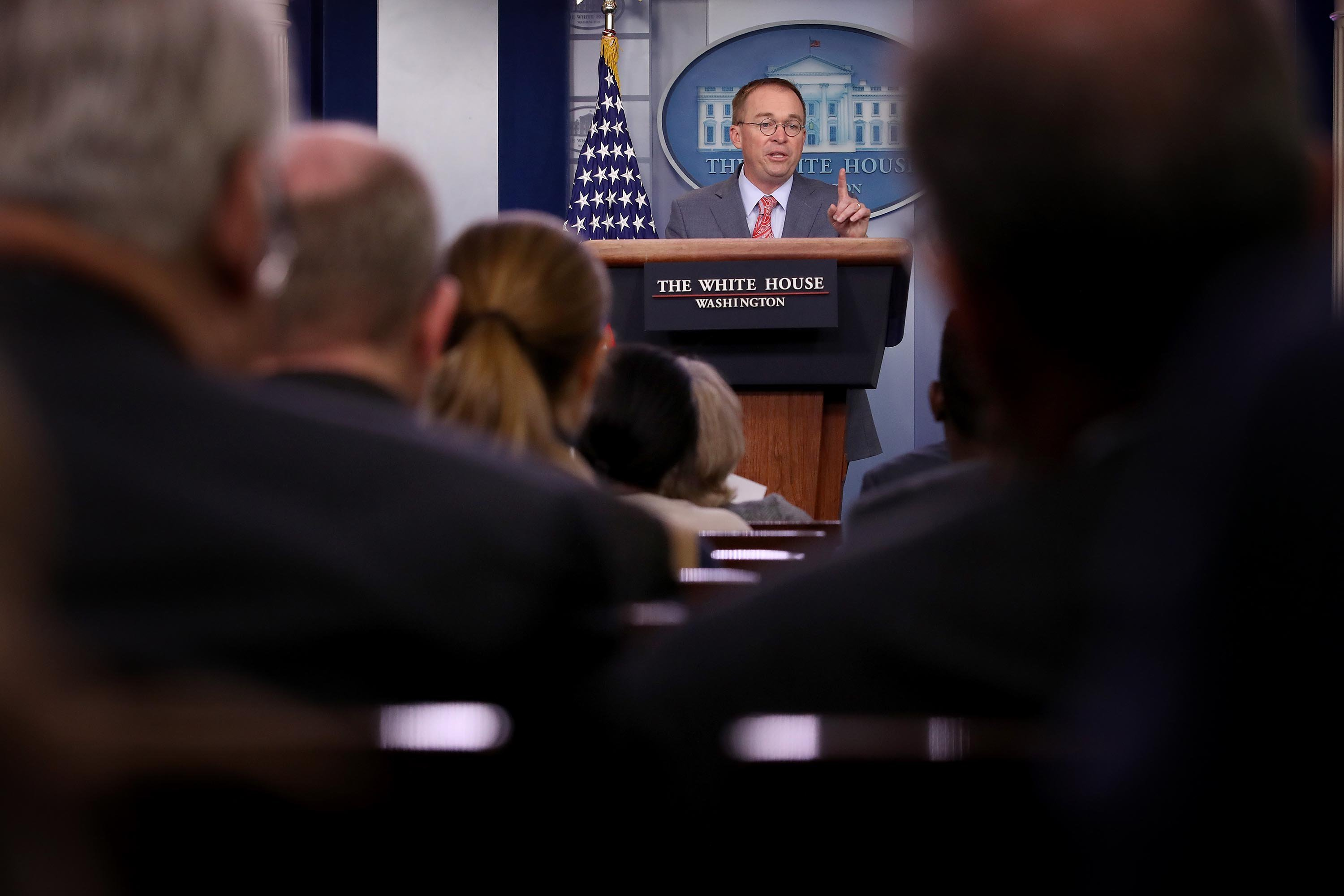 Trump unhappy with Mulvaney's press briefing in which he acknowledged quid pro quo, source says