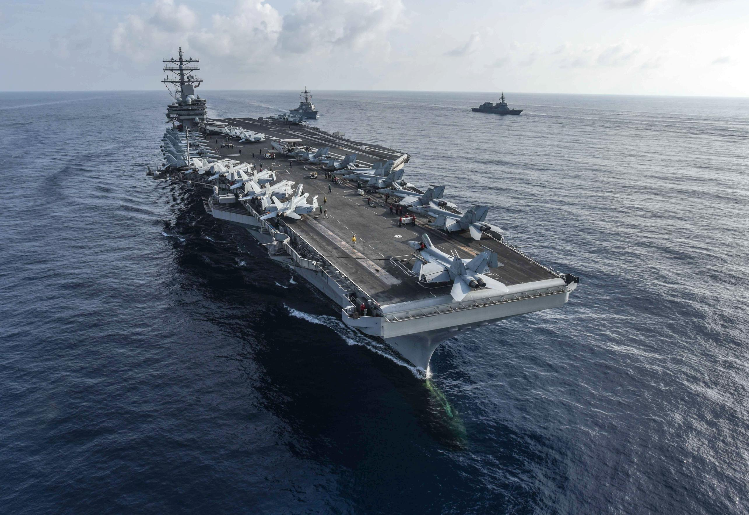 US Navy to send two aircraft carriers and several warships to South China Sea