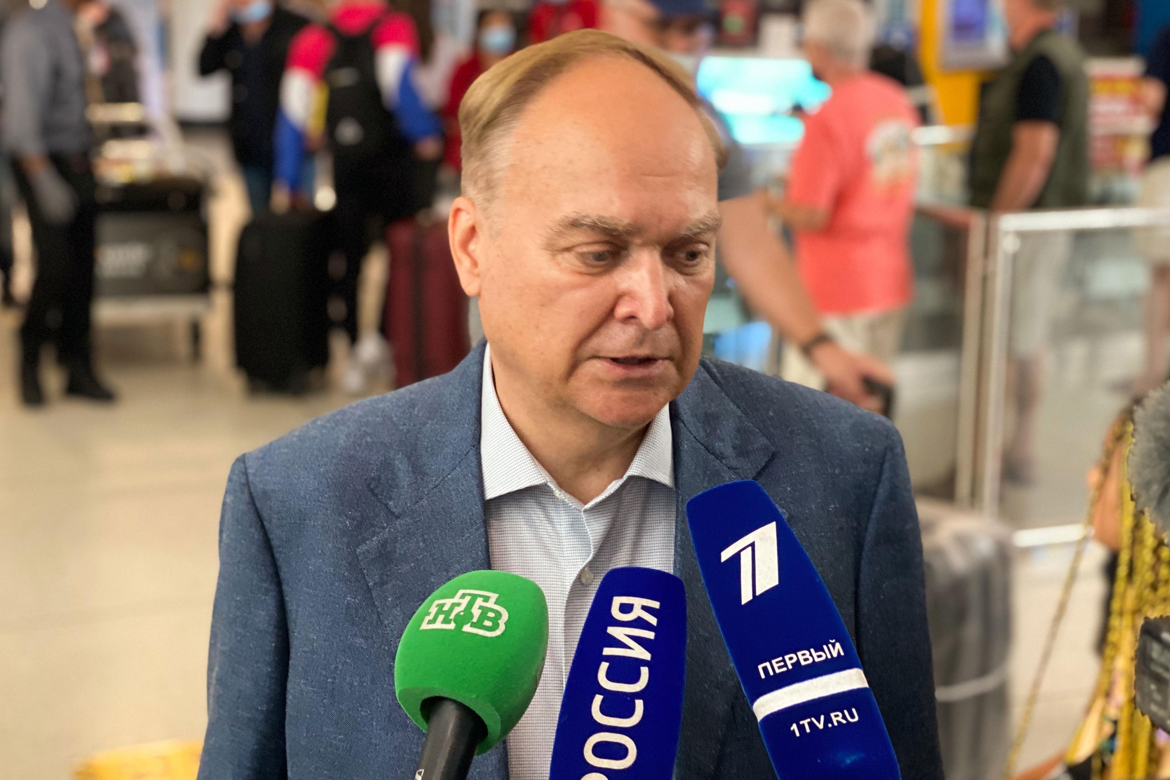 Russian ambassador to US arrives in Washington
