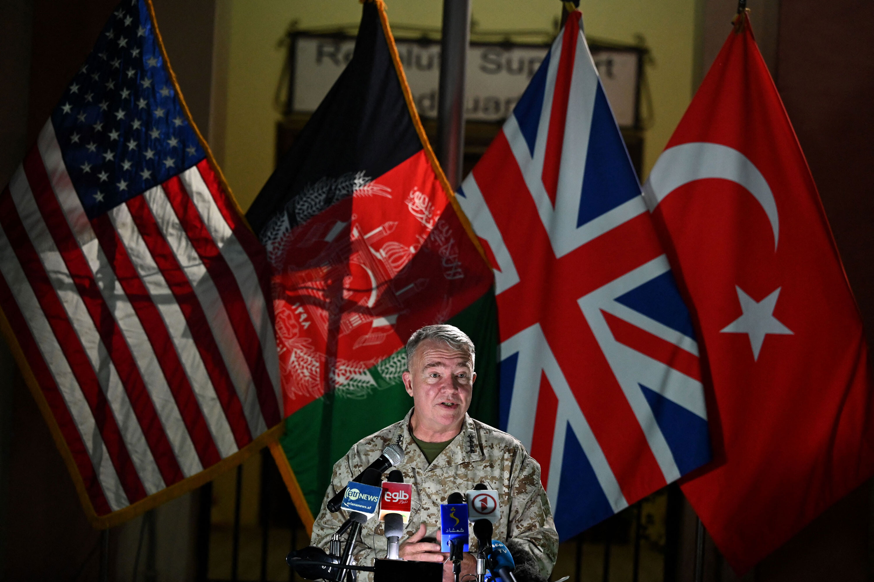 US general vows to continue airstrikes supporting Afghan troops fighting Taliban
