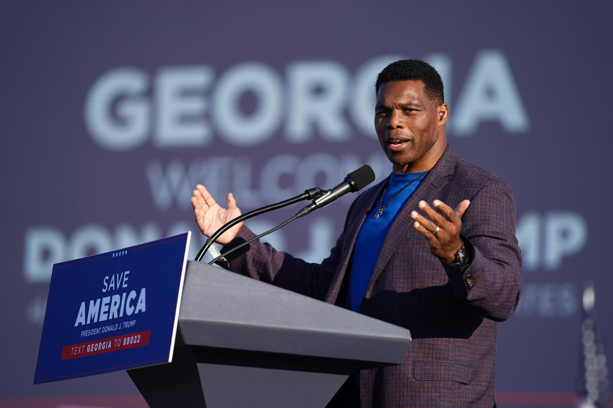 Herschel Walker cancels fundraiser with supporter who had swastika-shaped image in Twitter profile