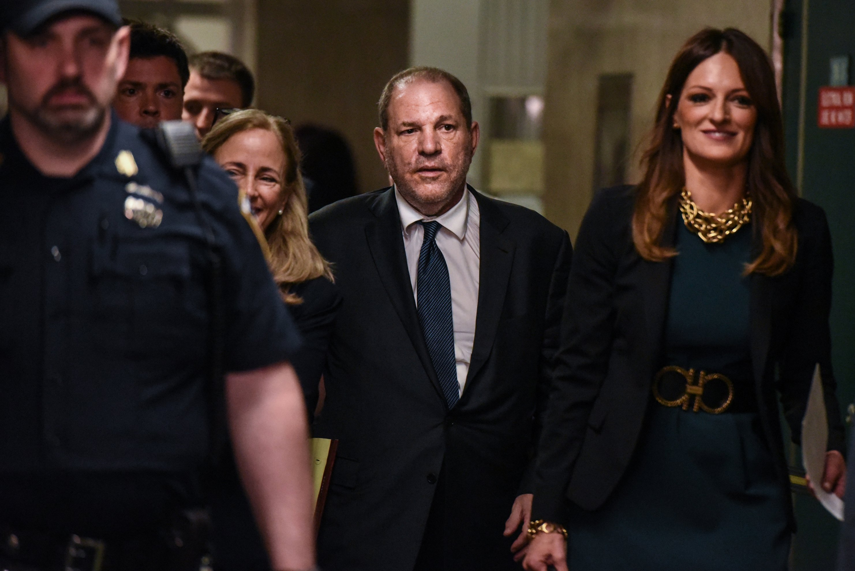 Actress who alleges she was raped by Harvey Weinstein meets with prosecutors