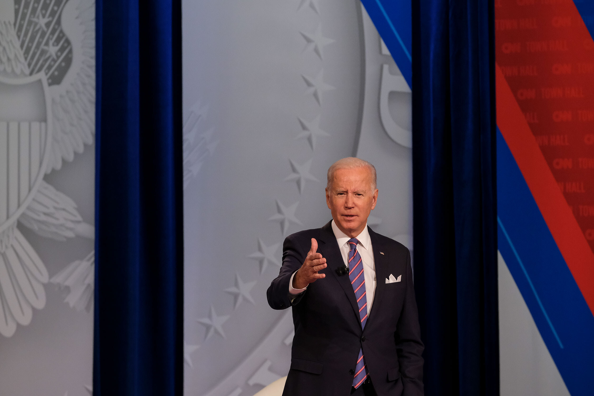 Biden pushes private talks into the open as the White House keeps its foot on the gas