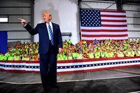 Workers had 3 options: Attend Trump's speech, use paid time off or receive no pay