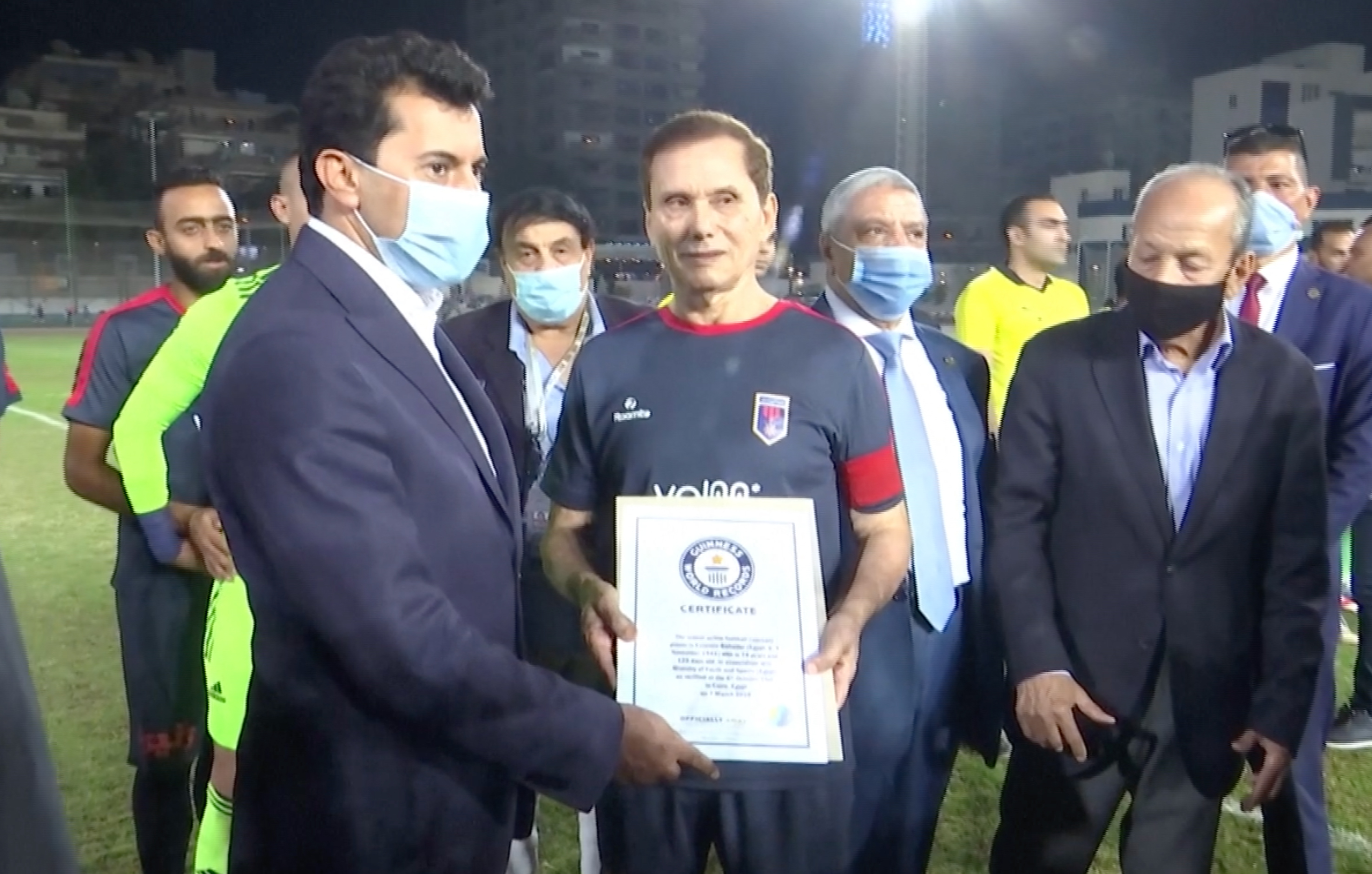 Ezzeldin Bahader, 74, is the world's oldest professional footballer