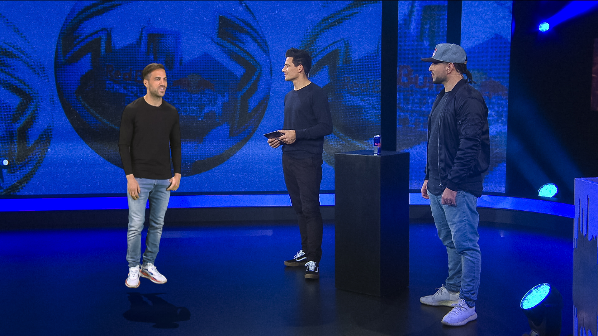 World Cup winner Cesc Fabregas appears as a hologram to judge Freestyle World Championship