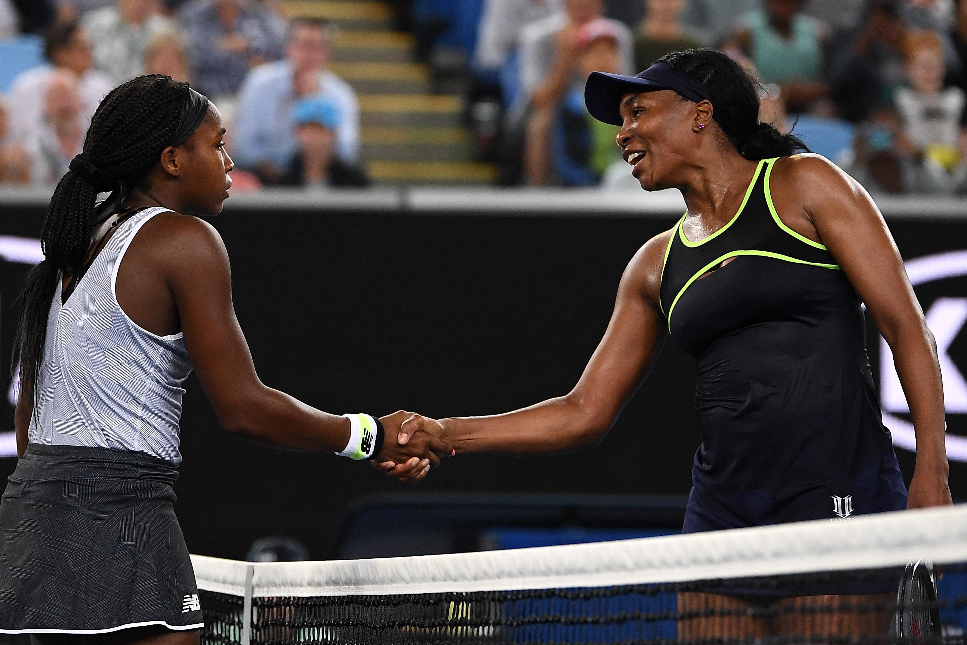 Coco Gauff defeats Venus Williams at Australian Open as Federer, Osaka and Serena also win