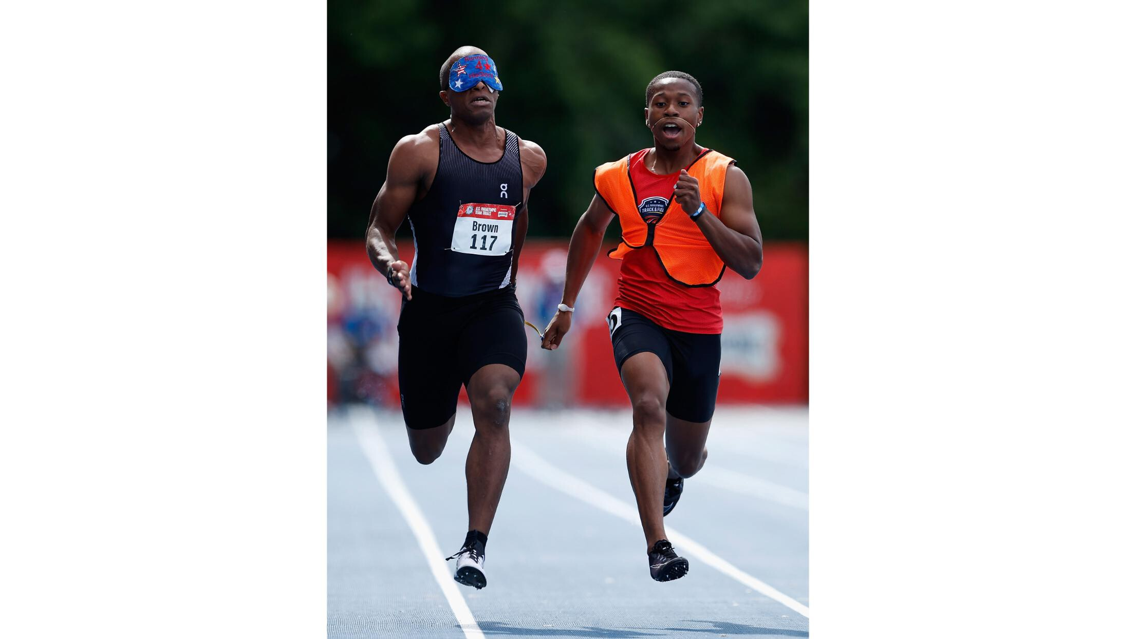 'The possibilities are endless on how fast we can go,' says Paralympian David Brown, the world's fastest blind athlete