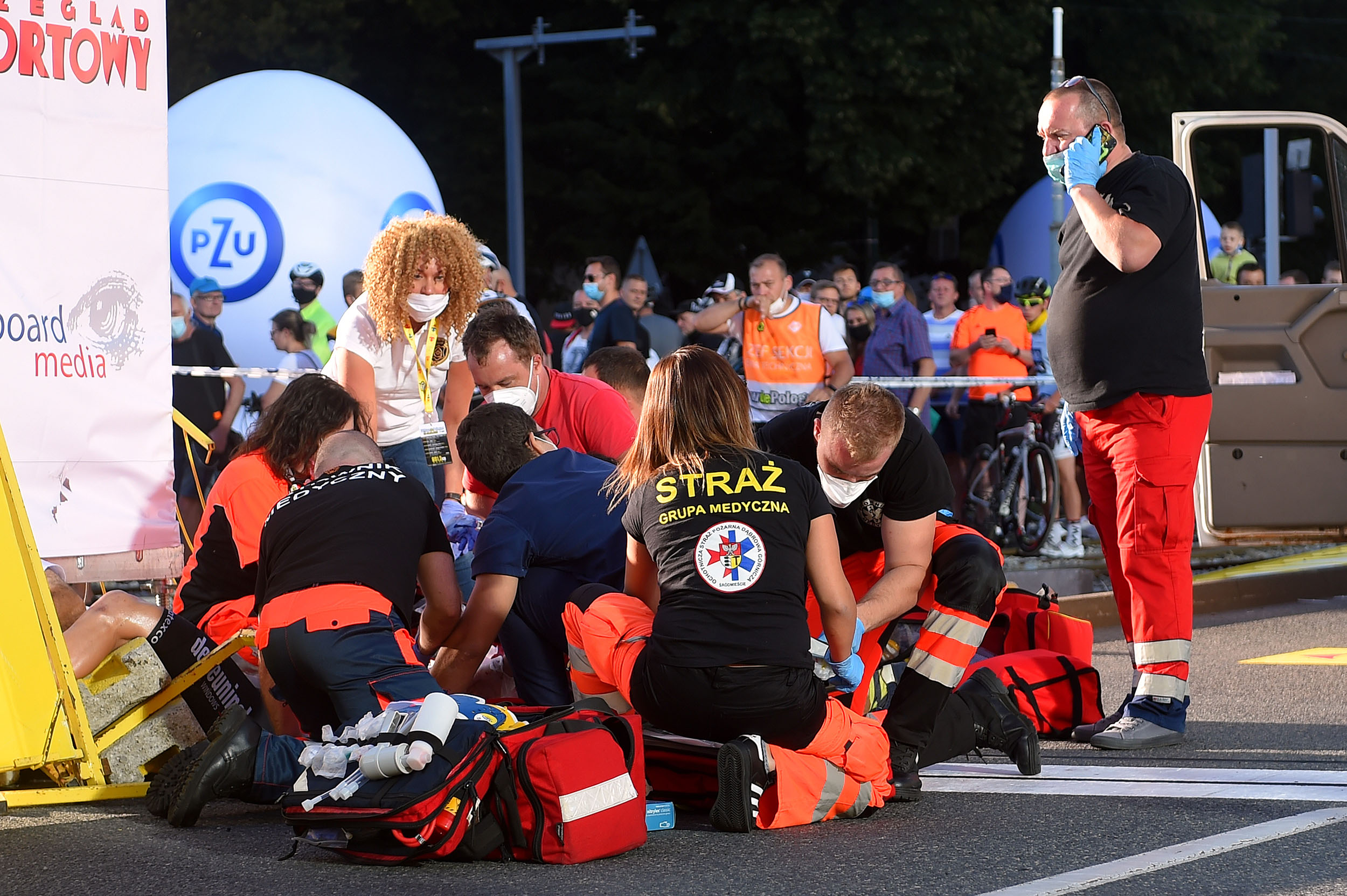 Fabio Jakobsen in a 'comatose condition' following horrific crash at Tour of Poland